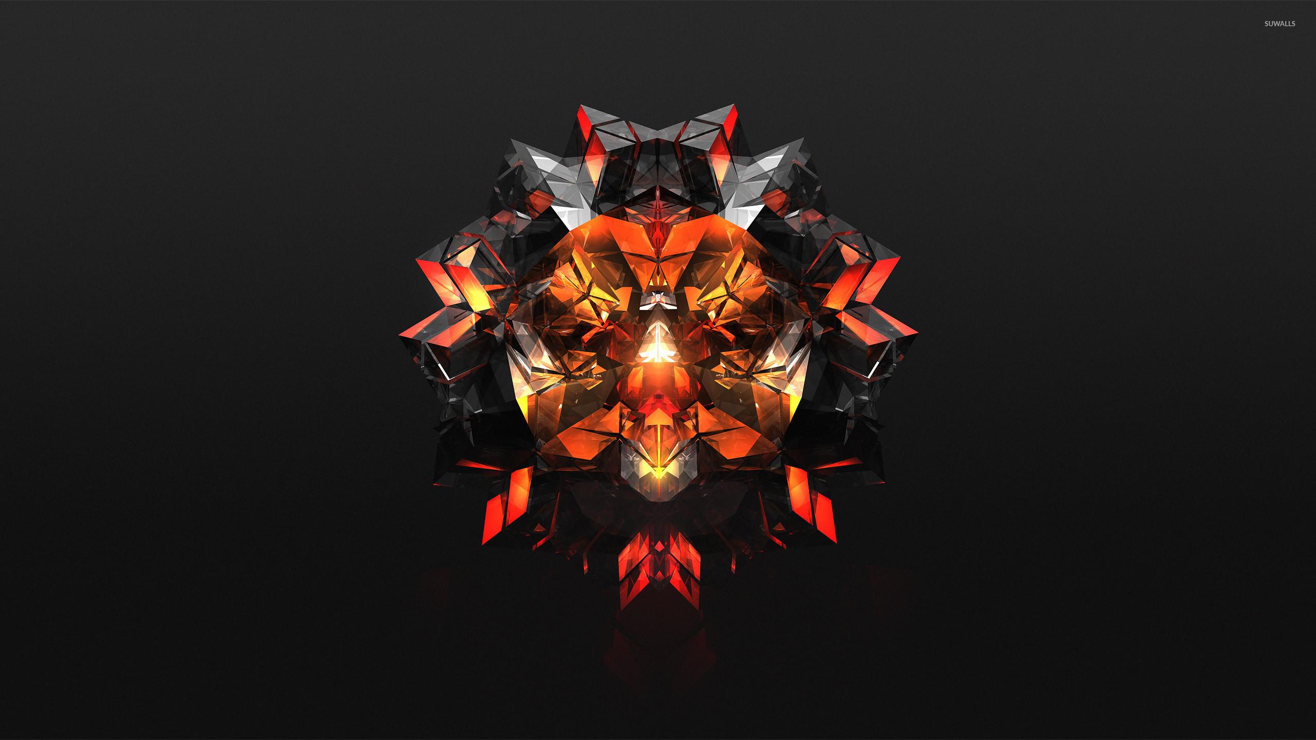 Res: 2560x1440, Black and orange diamond wallpaper