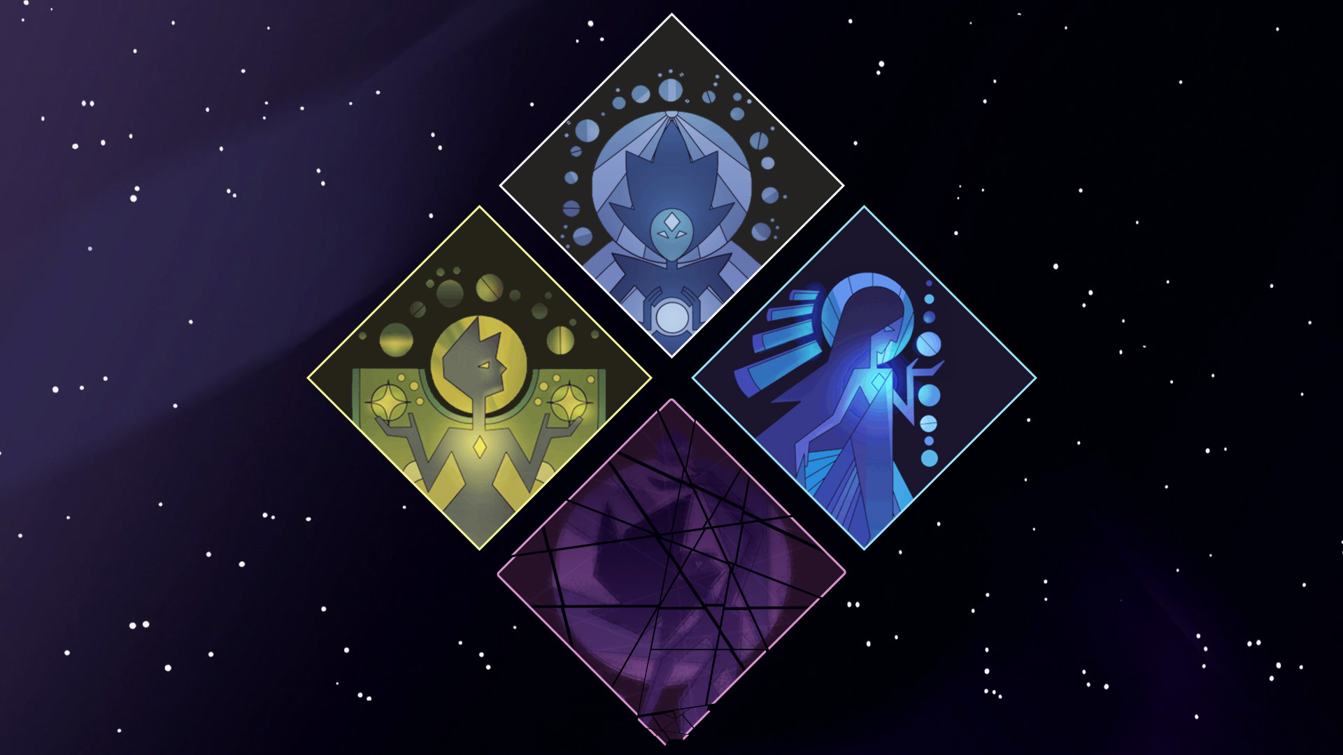 Res: 1920x1080, I made a background using The Diamond Authority's murals within their  symbol.