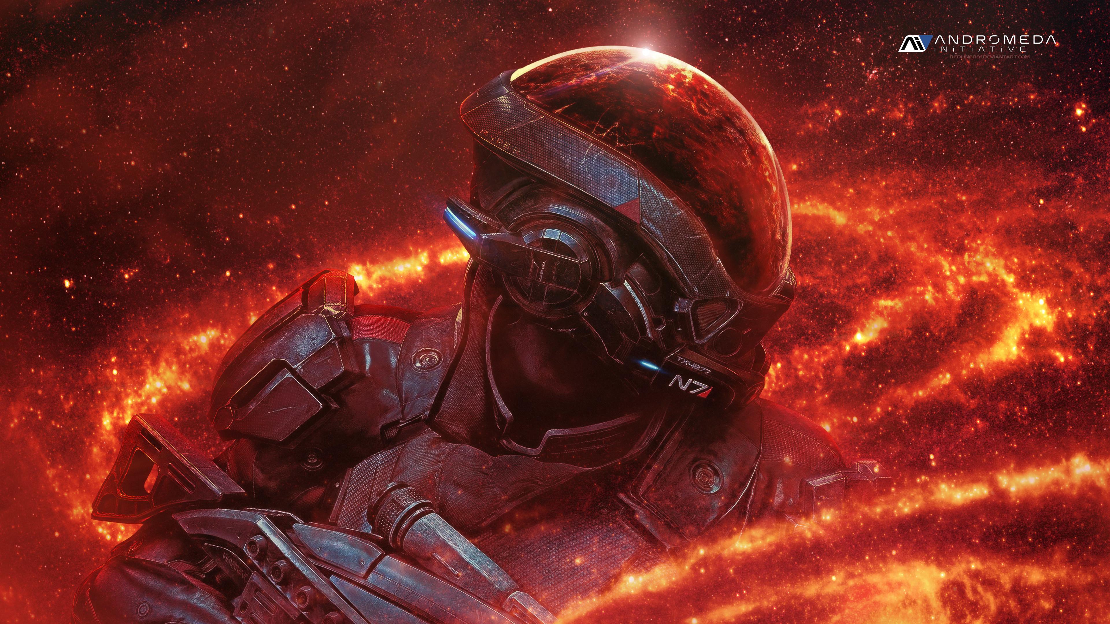 Res: 3840x2160, Mass Effect Andromeda RYDER N7 4k