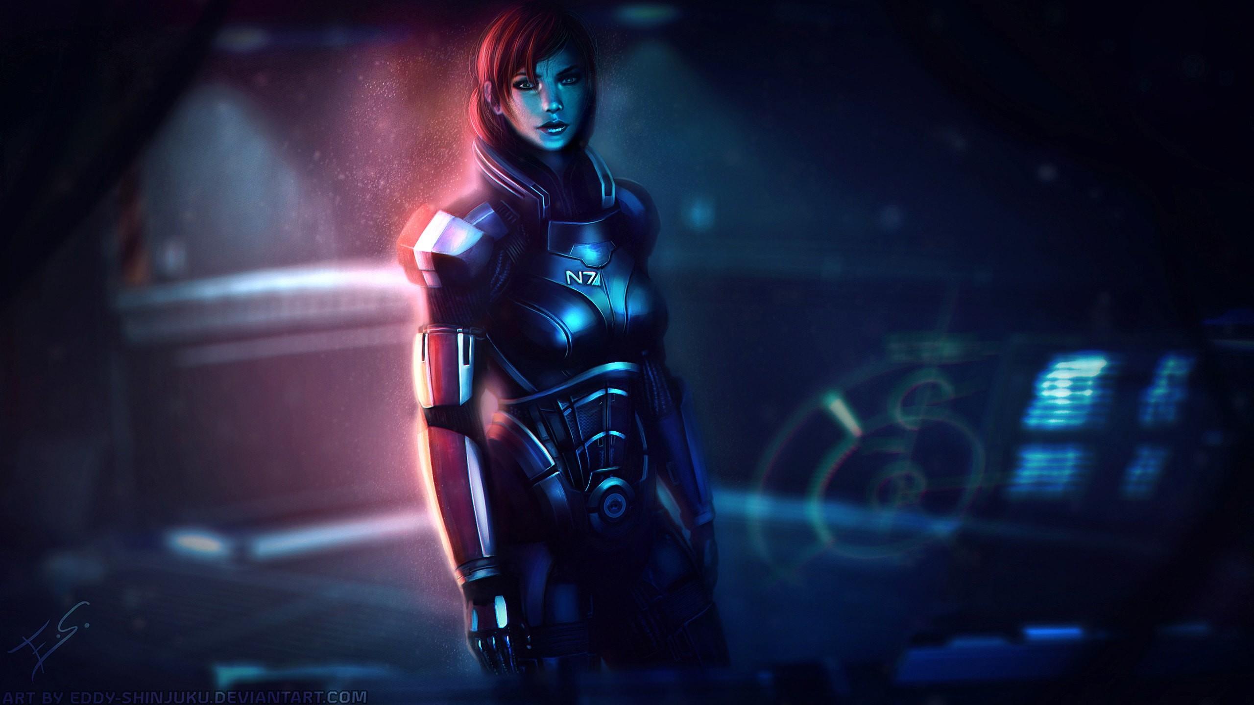 Res: 2560x1440, N7 Mass Effect Girl hd wallpaper