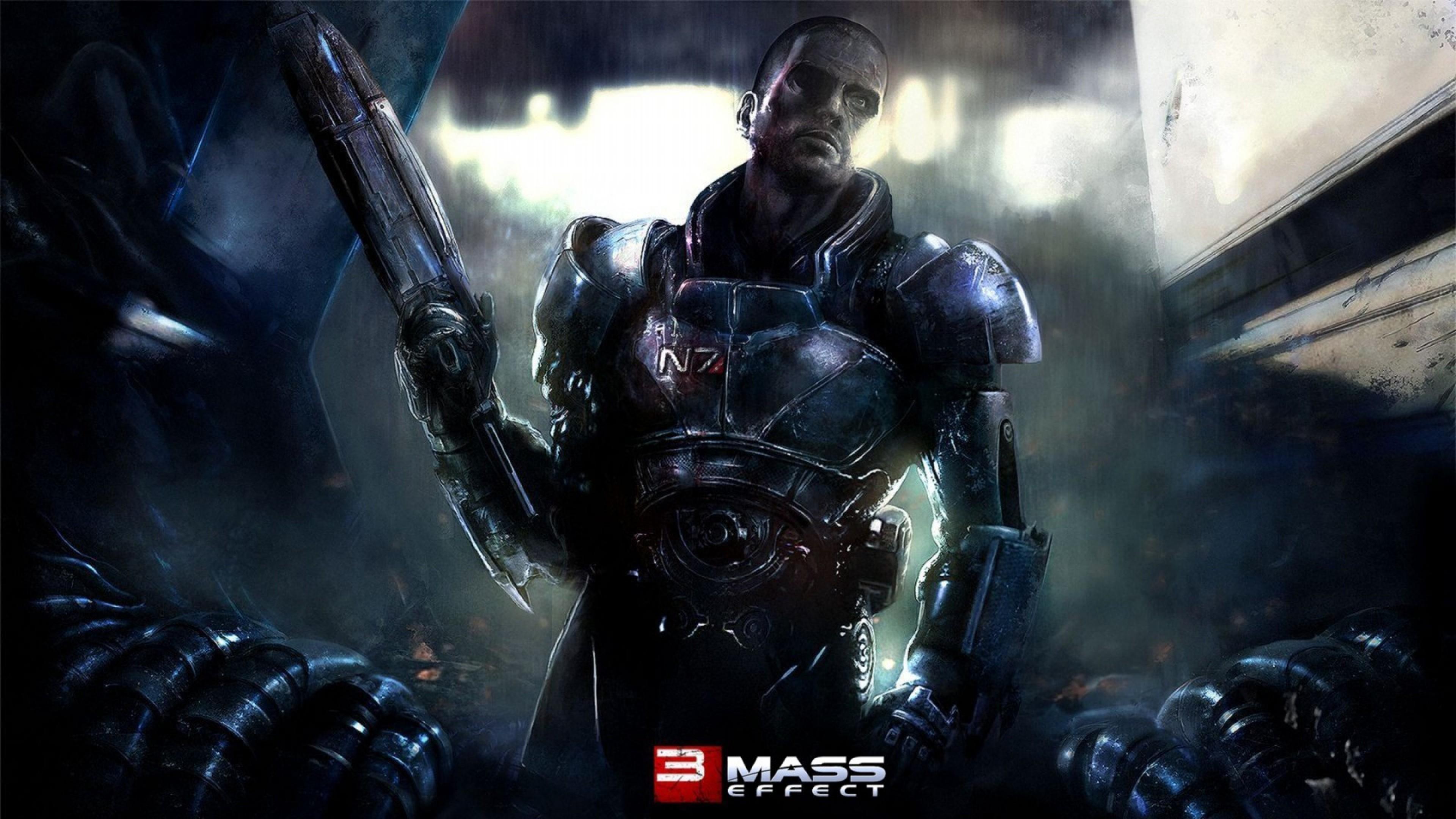 Res: 3840x2160, 10/03/2018 Mass Effect 3 N7 Wallpaper | Resolution:  px,