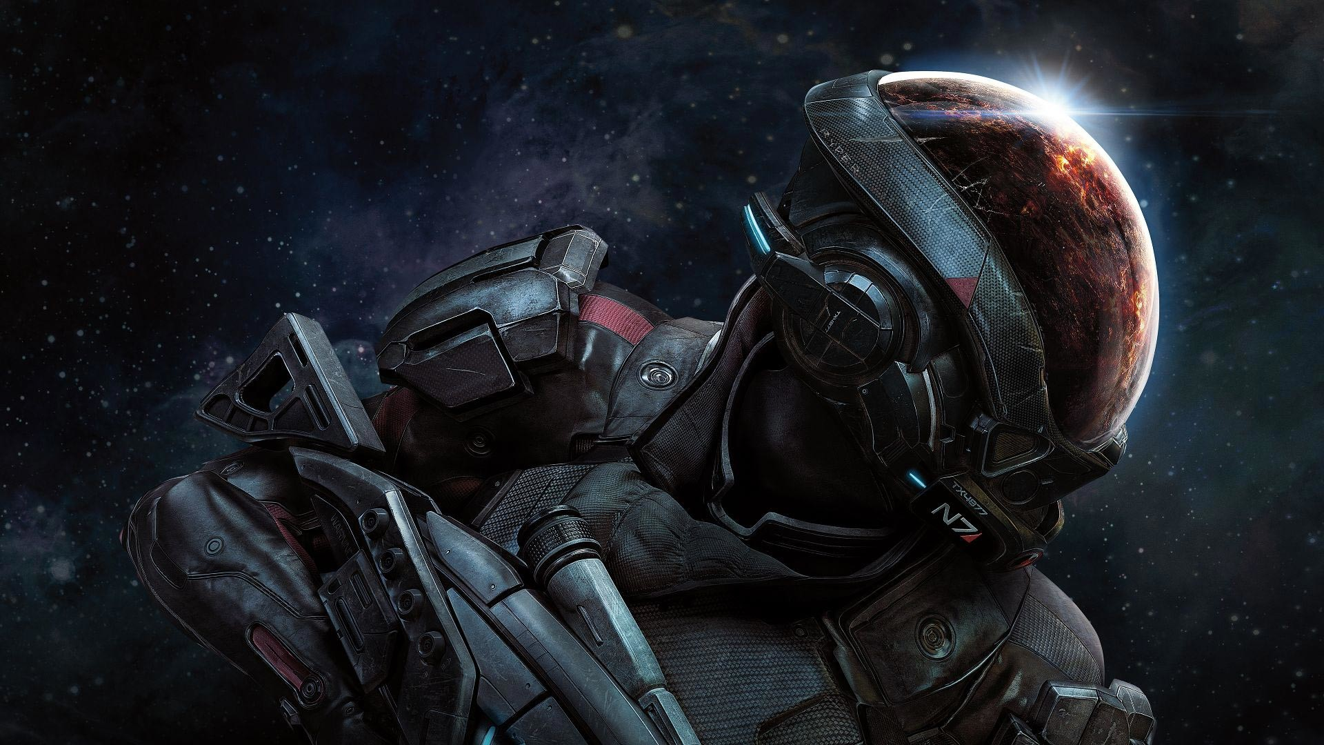 Res: 1920x1080, ... Ryder, N7 soldier. A great look at the new features in the game  including the many planets to explore and colonize as well as the new suit  and weapons.