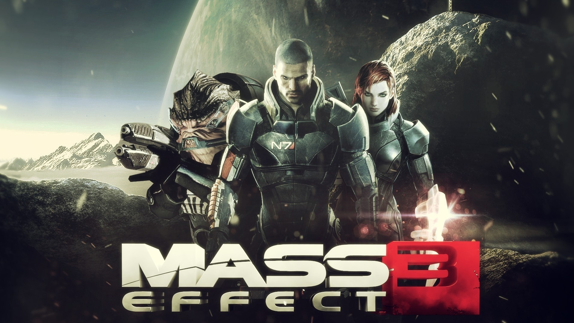 Res: 1920x1080, Mass effect 3, Shepard, Commander shepard, Male, Female, Game wallpaper and  background