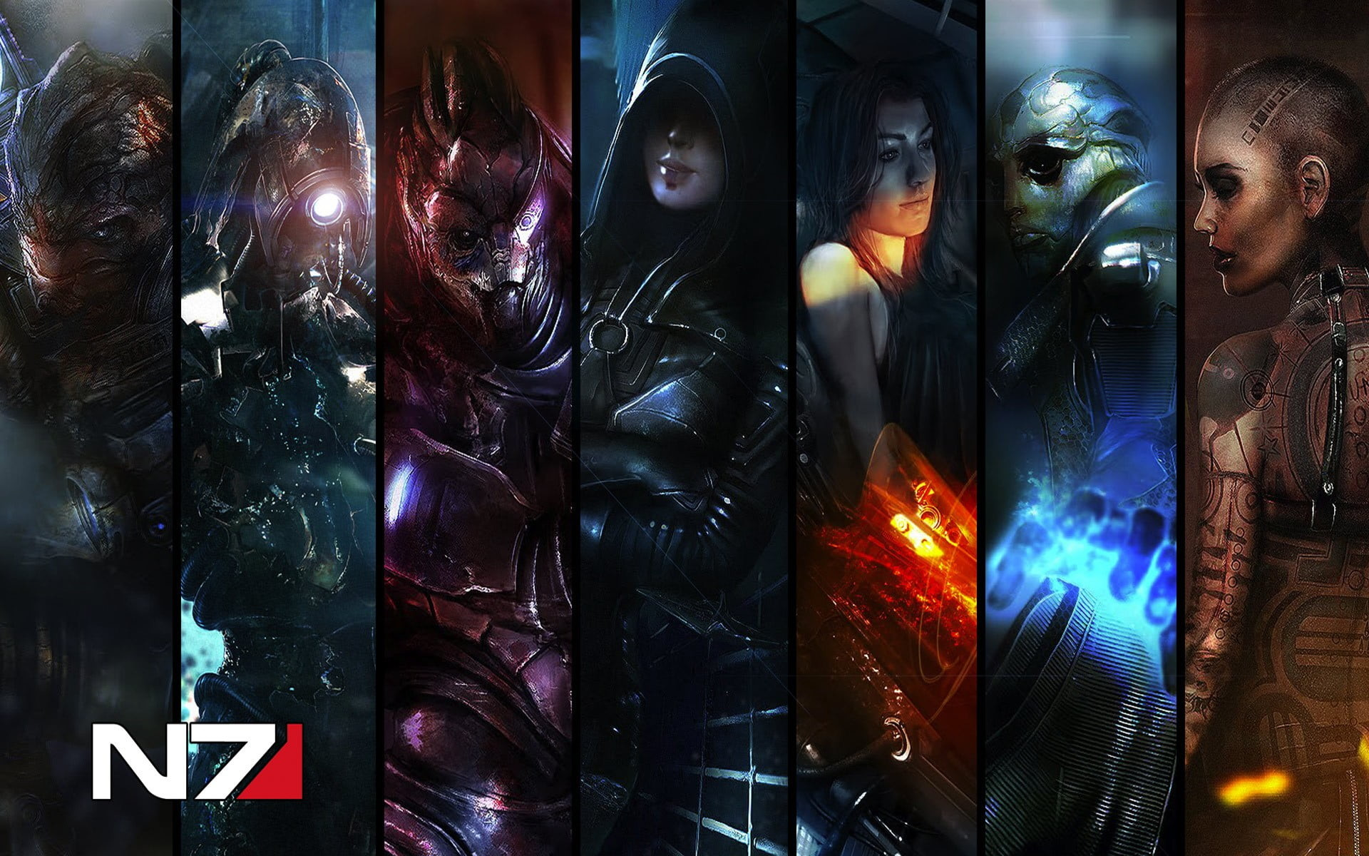 Res: 1920x1200, N7 characters advertisement HD wallpaper
