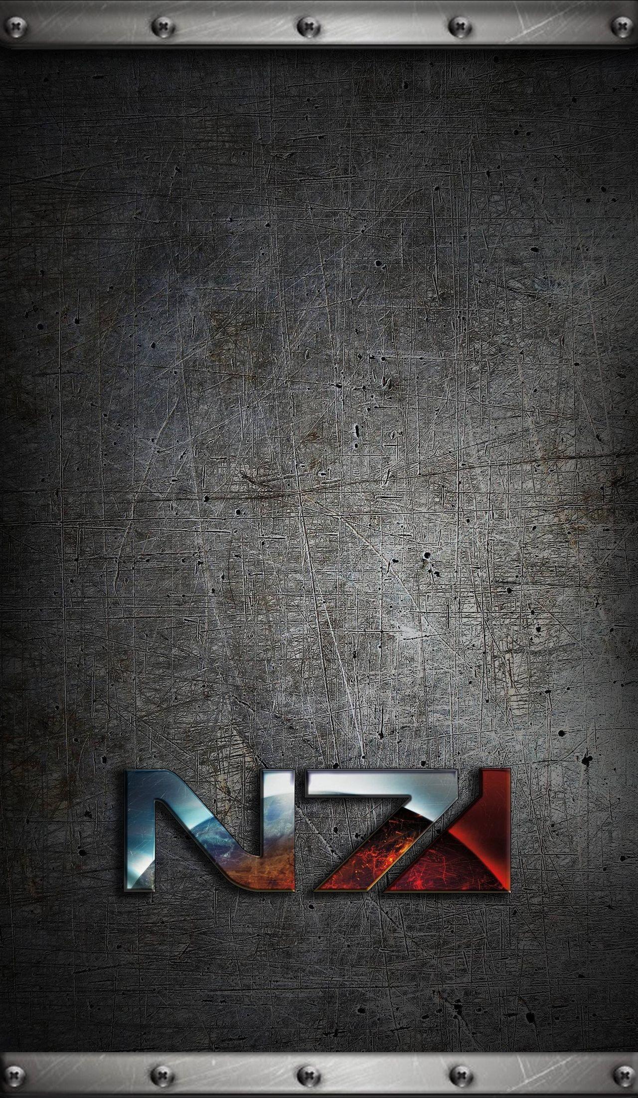 Res: 1280x2203, Mass Effect N7 IPhone Wallpaper