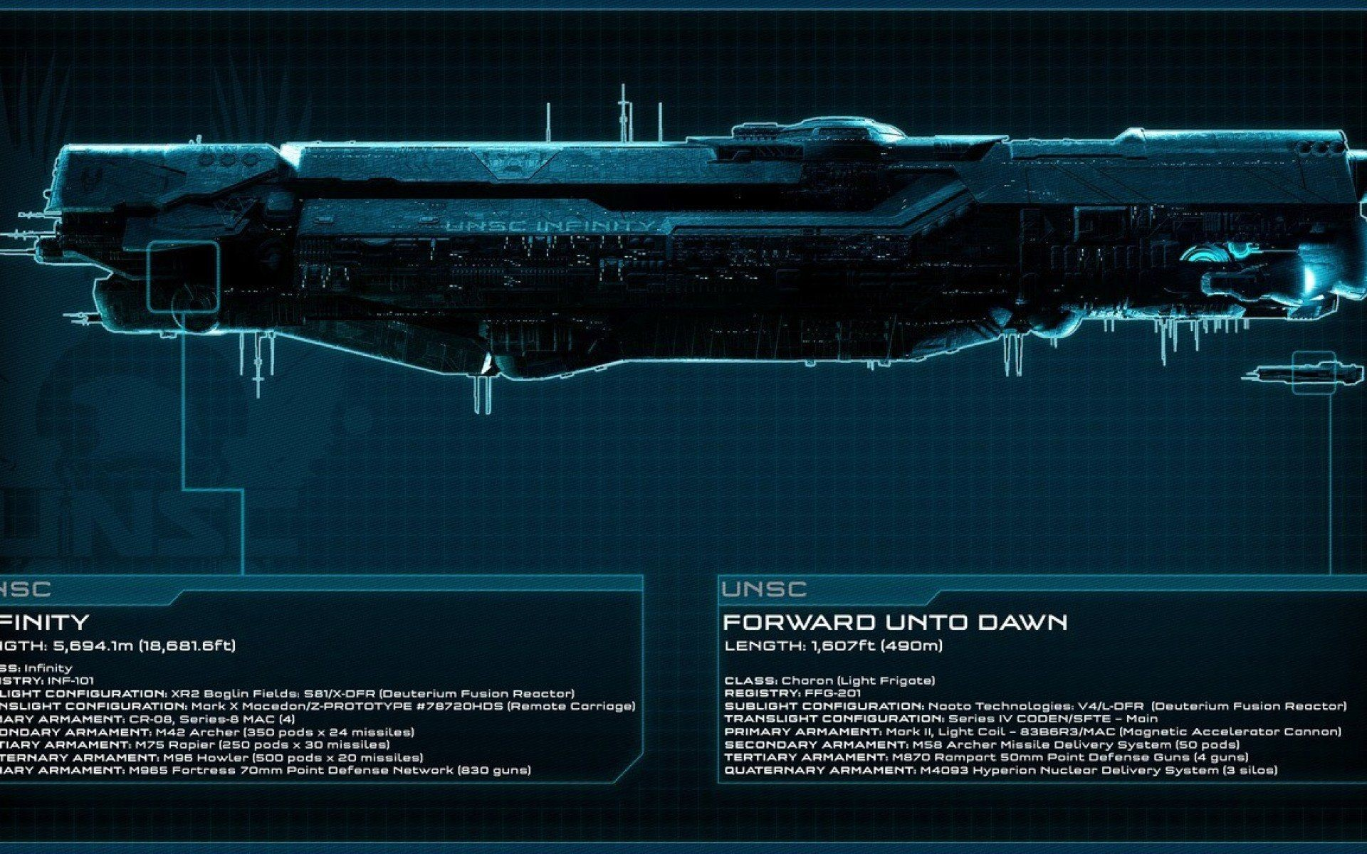 Res: 1920x1200, Unsc Infinity - WallDevil