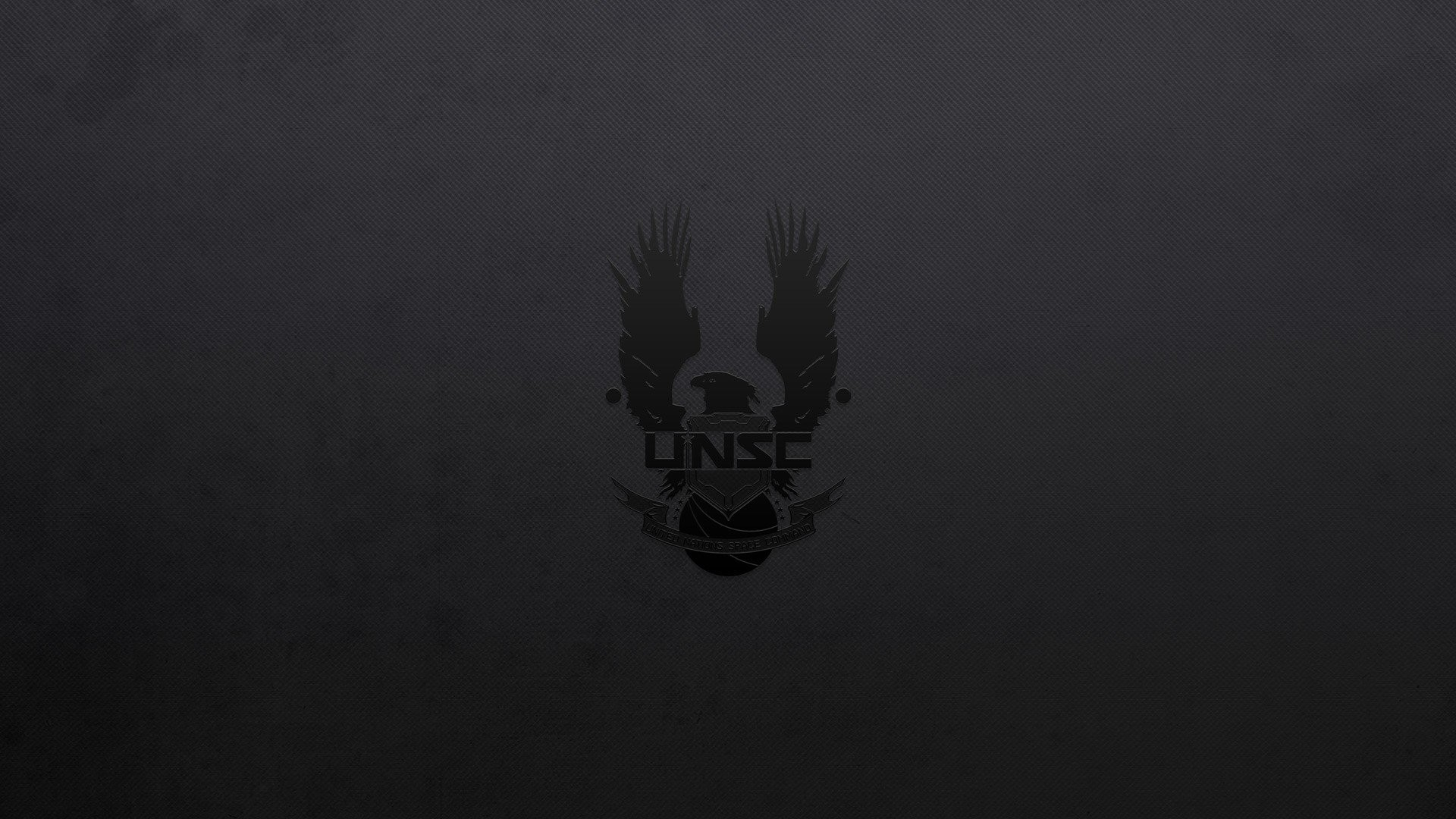 Res: 1920x1080, black background, Halo, UNSC, Video games, Minimalism, Dark HD Wallpapers /  Desktop and Mobile Images & Photos