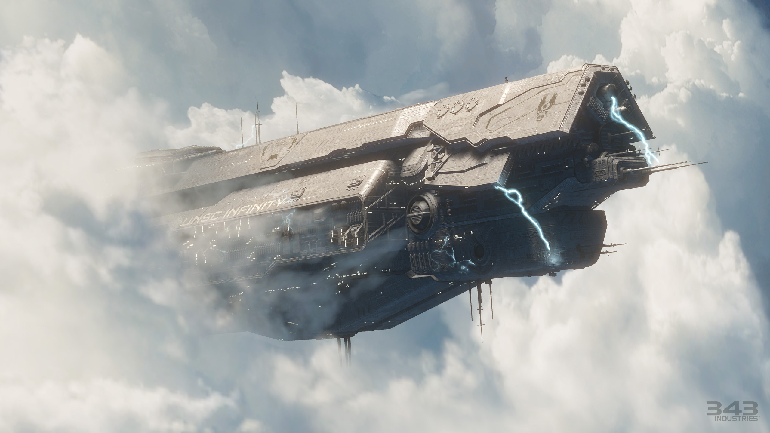 Res: 2560x1440, Computerspiele - Halo Science-Fiction Schiff Master Chief Halo 4 Wallpaper