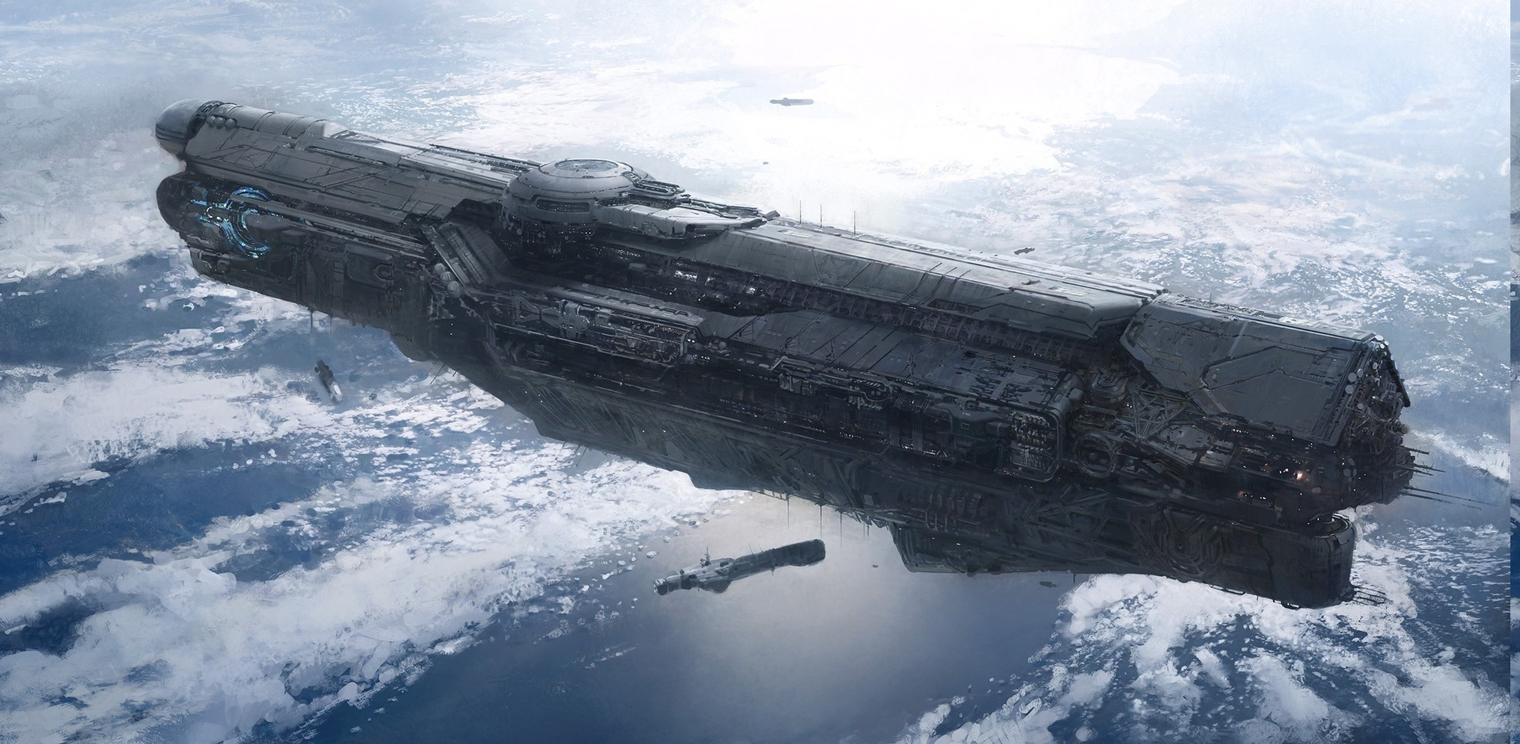Res: 2206x1080, Halo, Spaceship, Halo 4, UNSC Infinity Wallpapers HD / Desktop and Mobile  Backgrounds