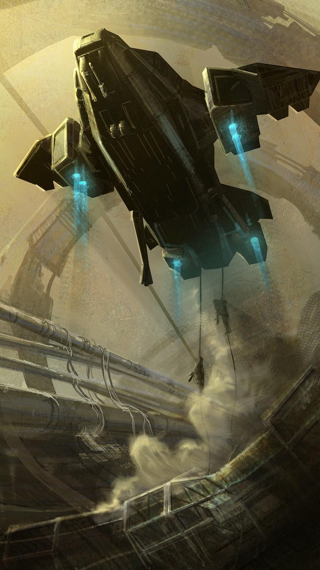 Res: 1080x1920, Artwork liftoff space elevator pelican sandstorms unsc wallpaper