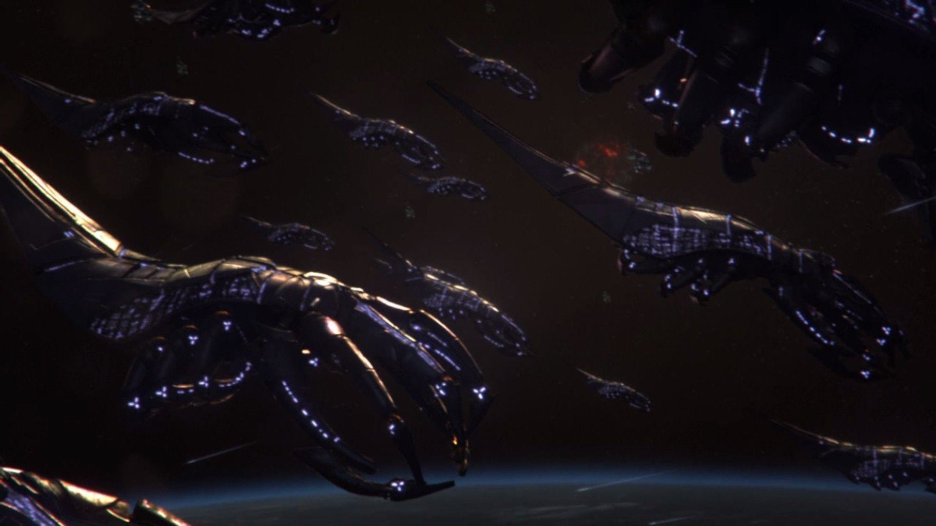 Res: 1920x1080, Mass Effect Shep's Force/Reapers vs Halo UNSC/Covenant. - Battles .