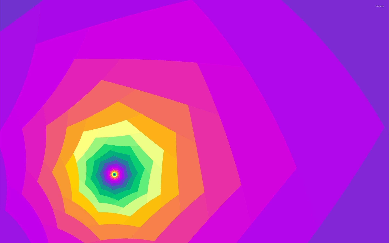 Res: 2880x1800, Bright colored tunnel wallpaper
