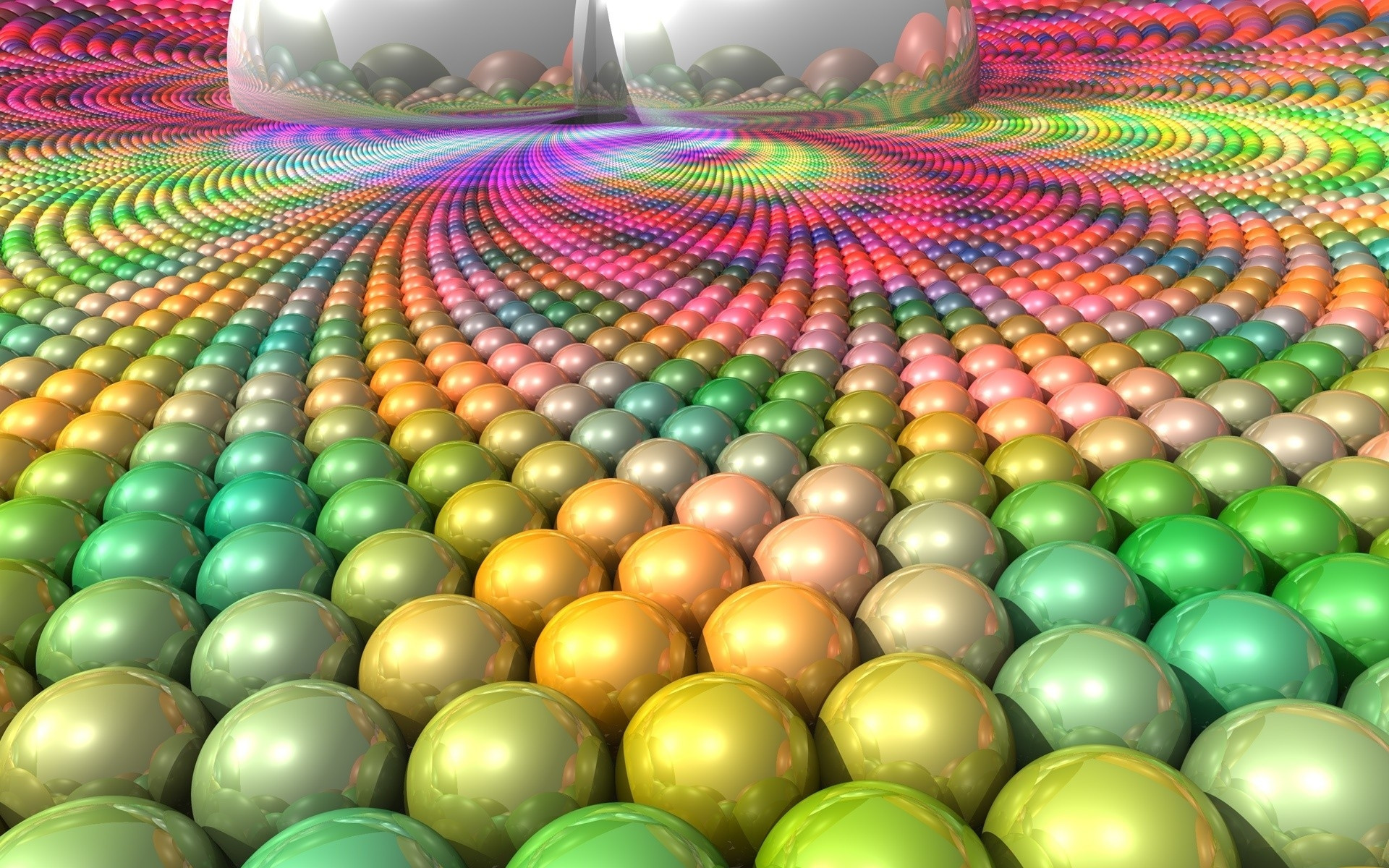 Res: 1920x1200, BALL SURFACE MULTI COLORED BRIGHT 3D Colorful Wallpaper.