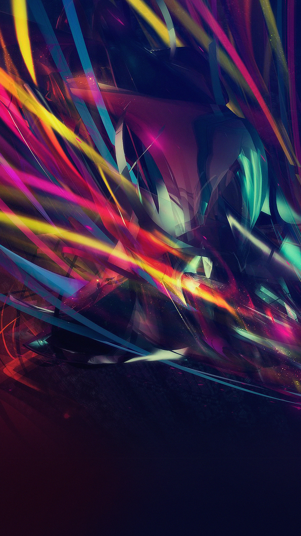 Res: 1242x2208, Dark Colorful Patterns Disco Neon Android Wallpaper ...