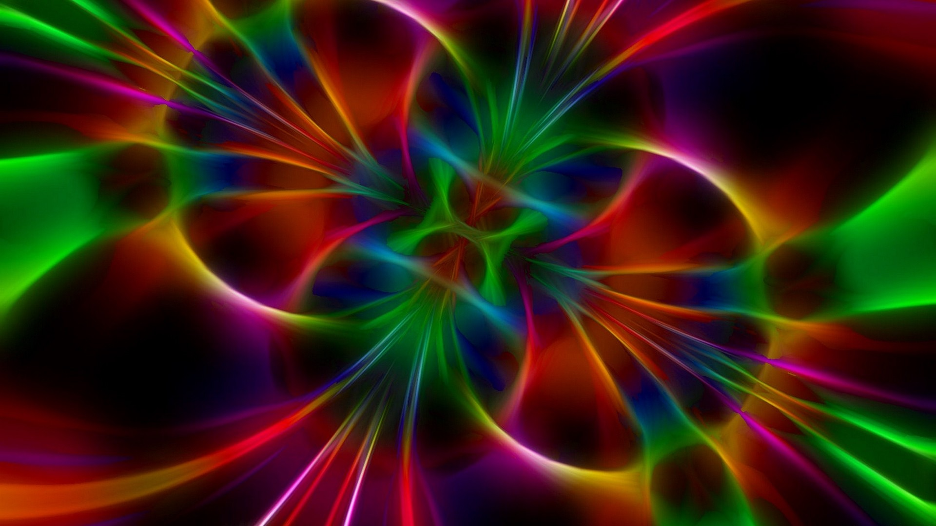Res: 1920x1080,  Wallpaper glow, bright, abstract, background, color