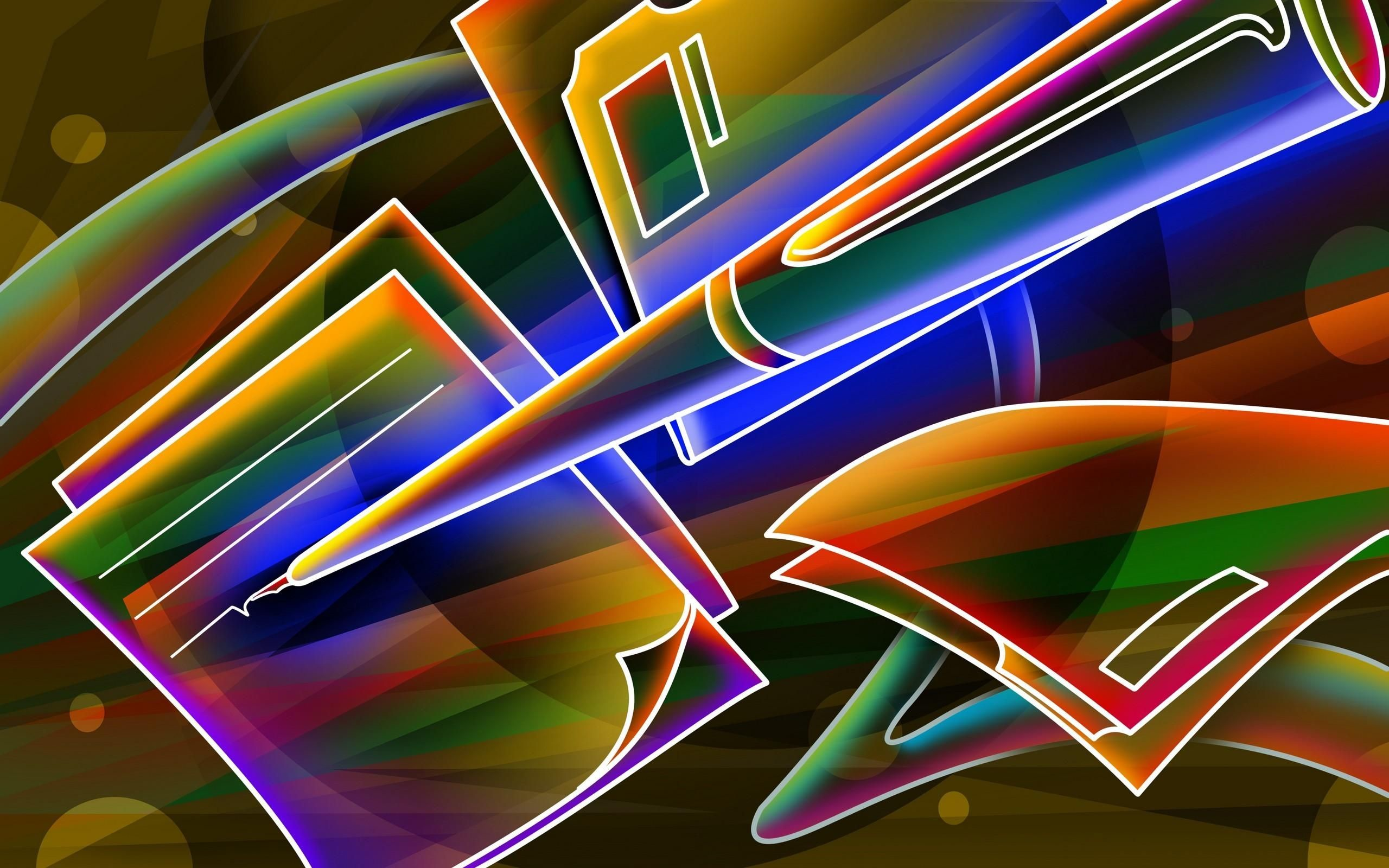 Res: 2560x1600,  3d Neon Colorful Wallpaper –free Wallpapers Download