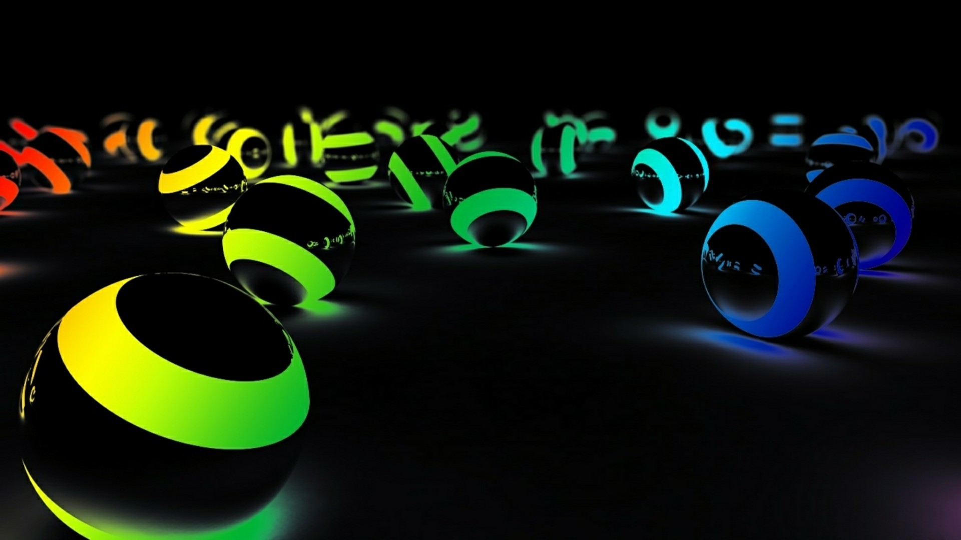 Res: 1920x1080, 3D Neon Colored Balls Wallpaper | Wallpaper Studio 10 | Tens of thousands  HD and UltraHD wallpapers for Android, Windows and Xbox