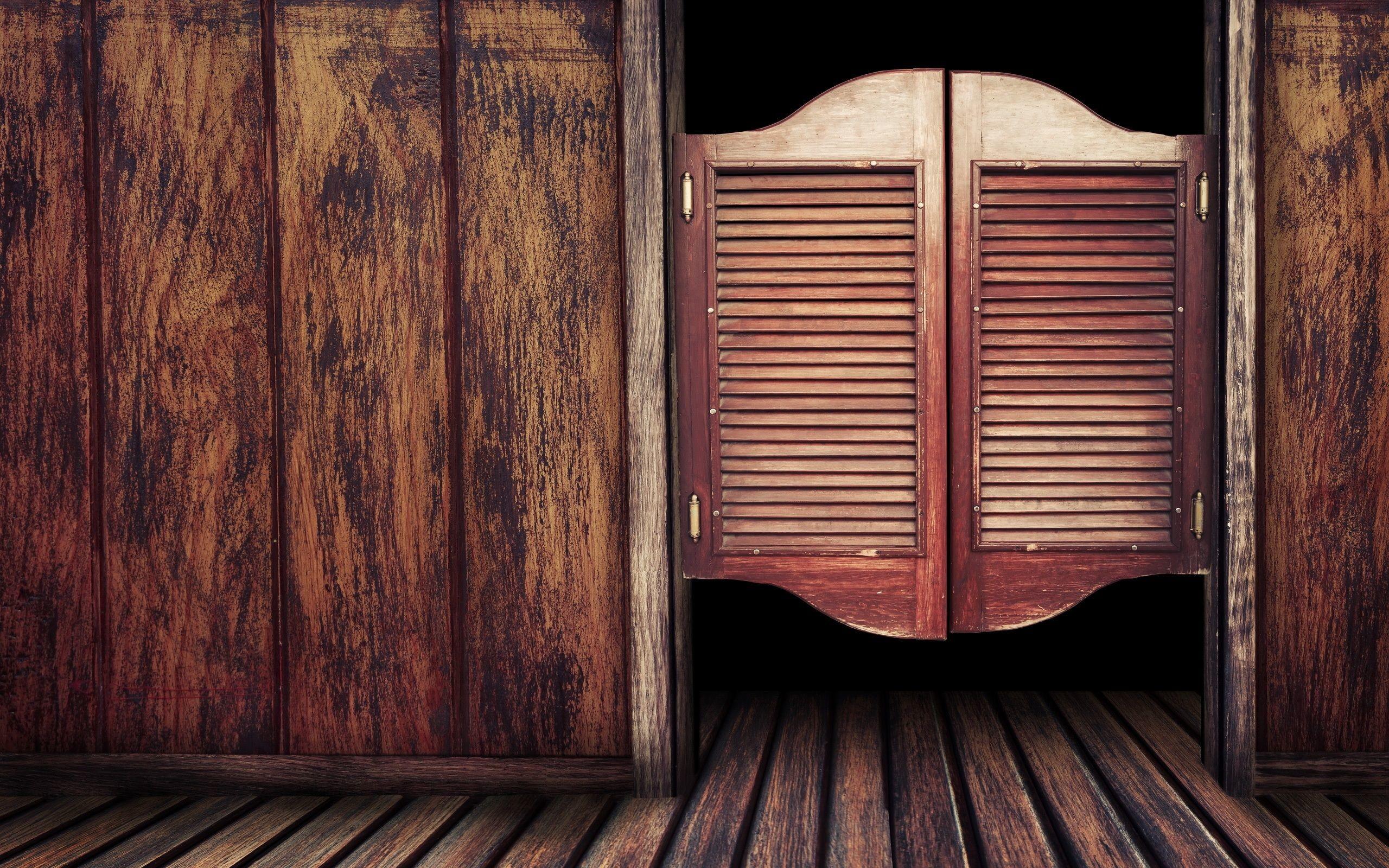 Res: 2560x1600, Wooden Door to Old Western Bar | Photo and Desktop Wallpaper