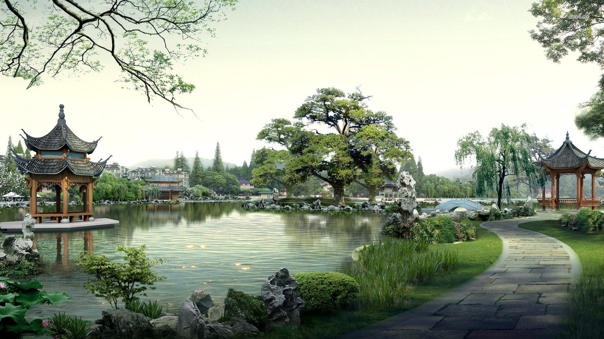 Res: 1920x1080, Japanese Garden Wallpapers