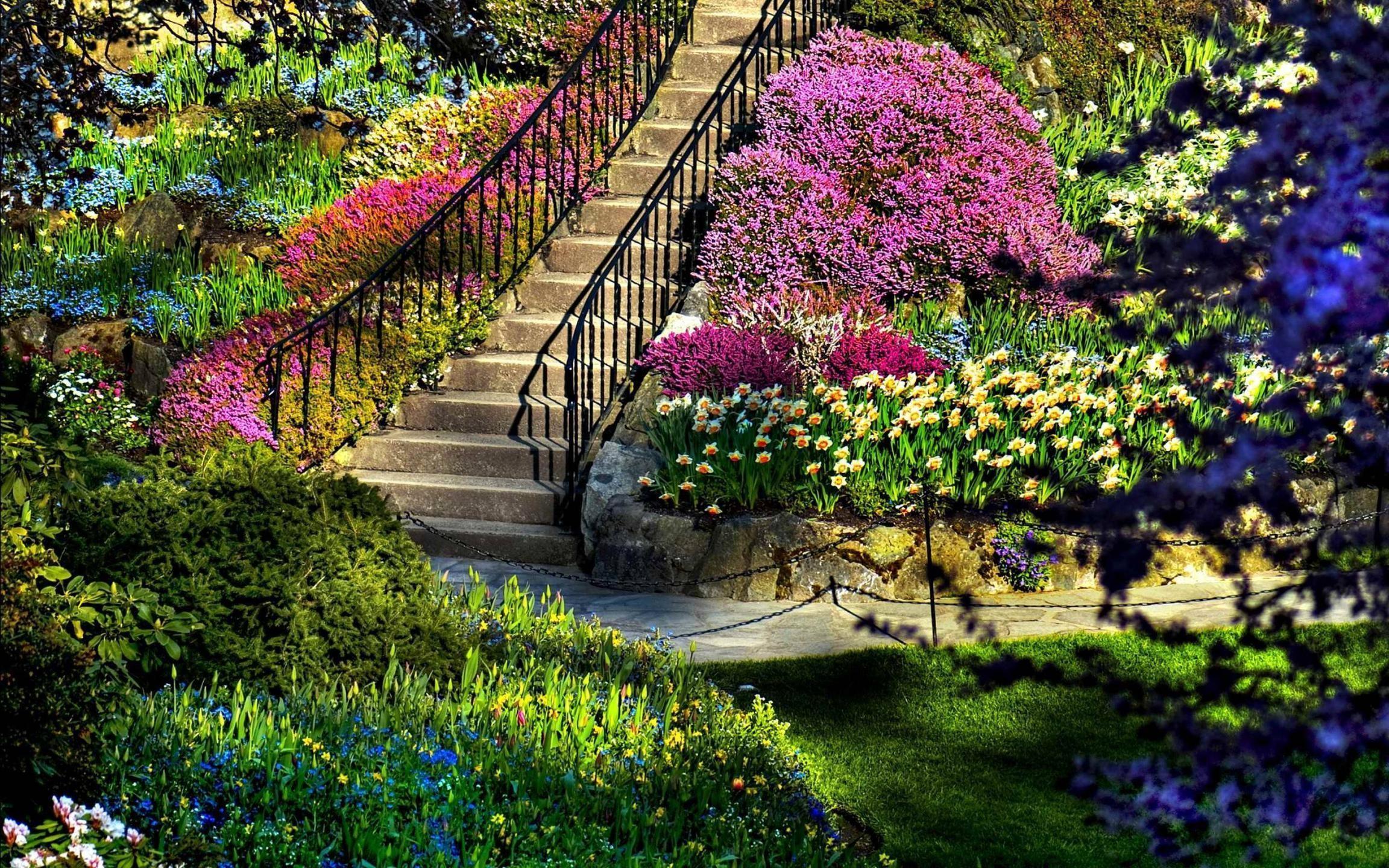 Res: 2304x1440, Spring Japanese Garden Wallpaper