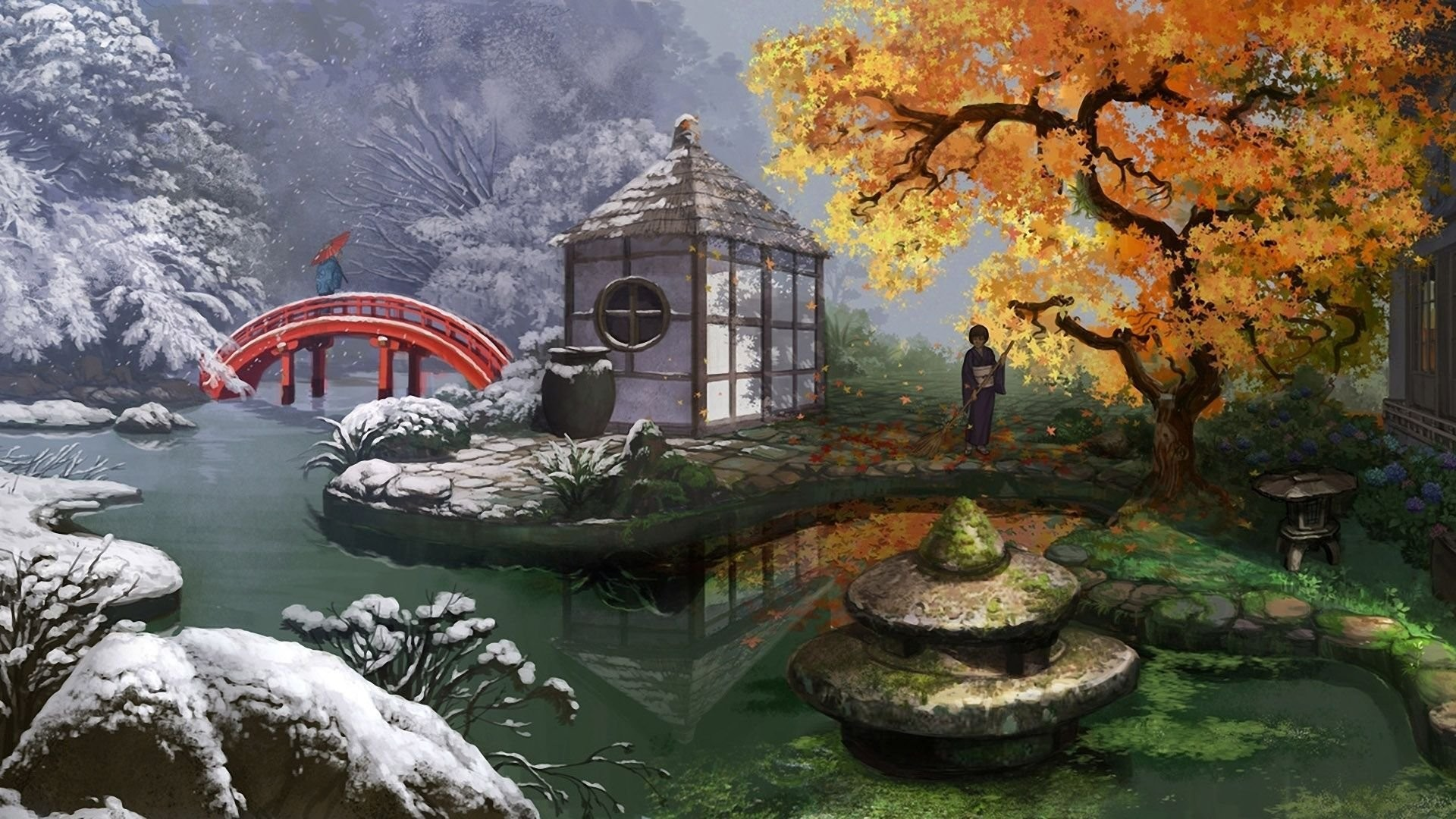 Res: 1920x1080, Japanese Garden Wallpapers 25 - 1920 X 1080