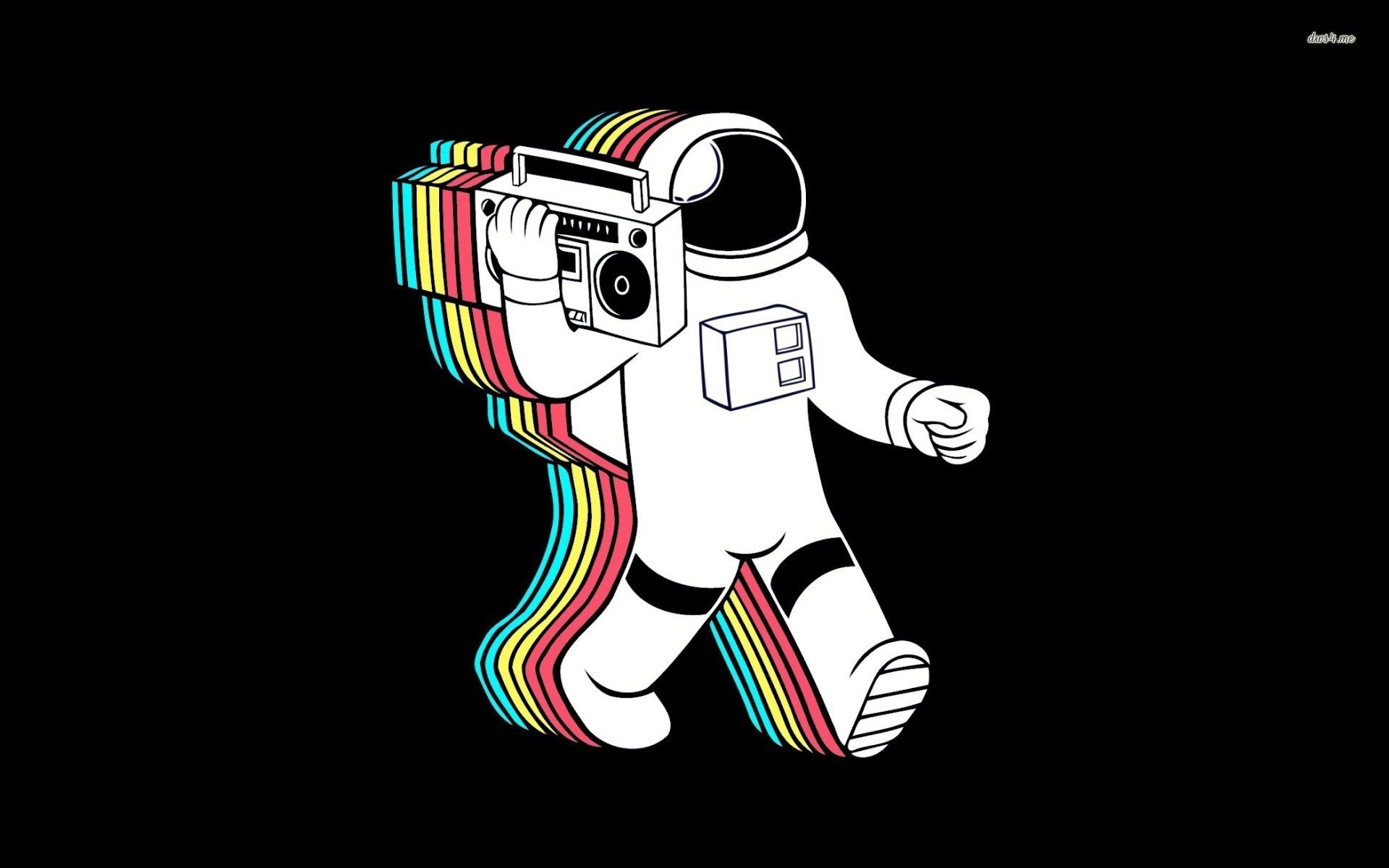 Res: 1920x1200, ... Astronaut and boombox wallpaper  ...
