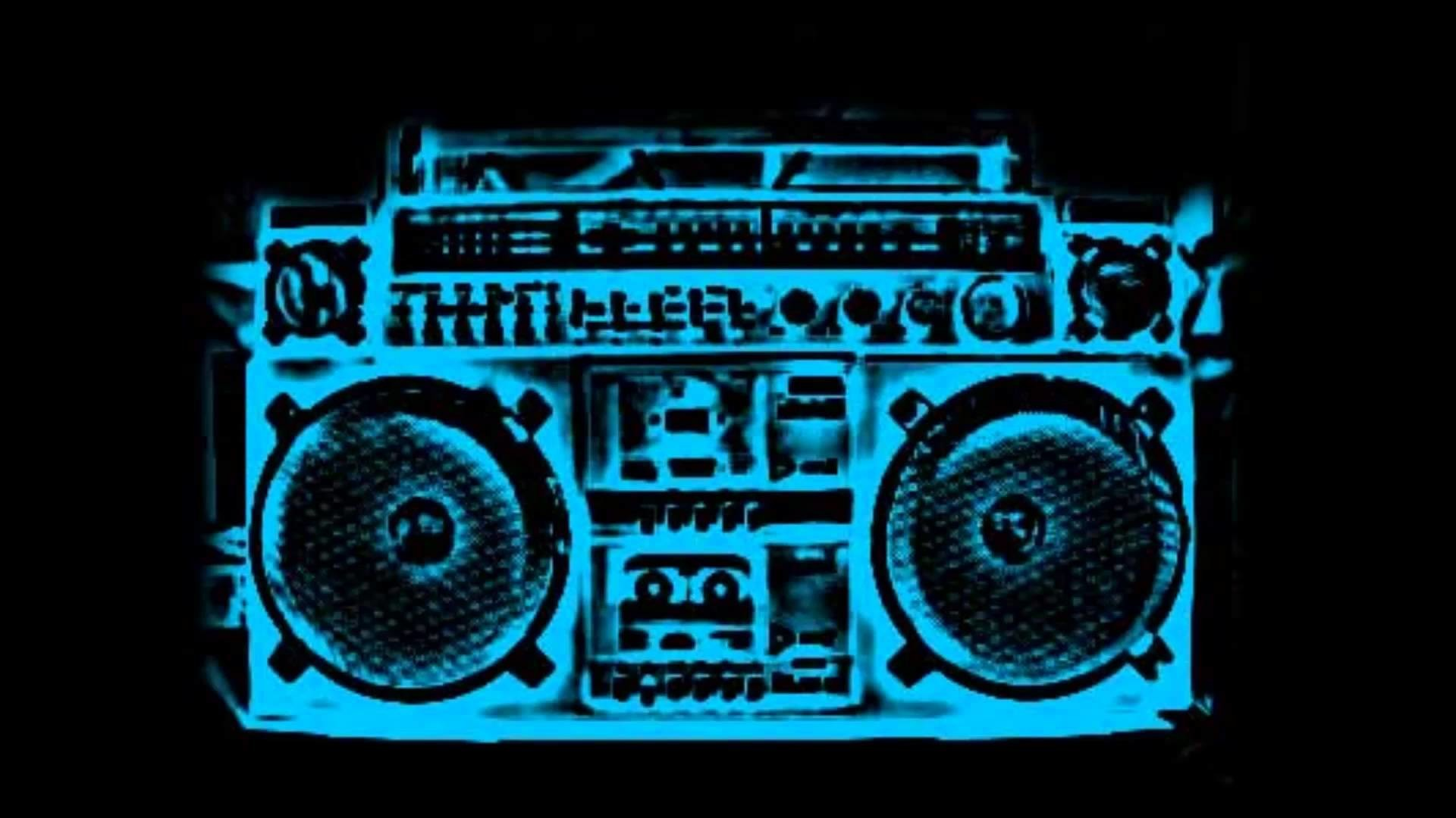 Res: 1920x1080, Rotating Boom Box Ghetto Blaster With Moving Cones On A Black .