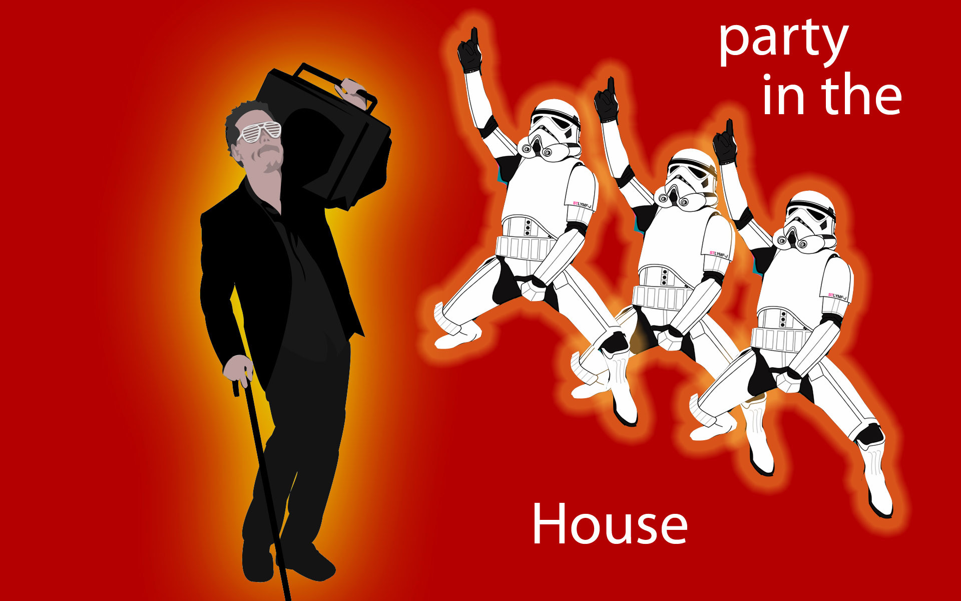 Res: 1920x1200, stormtroopers, Gregory House, Boombox, simple background, House M.D. - Free  Wallpaper / WallpaperJam.com