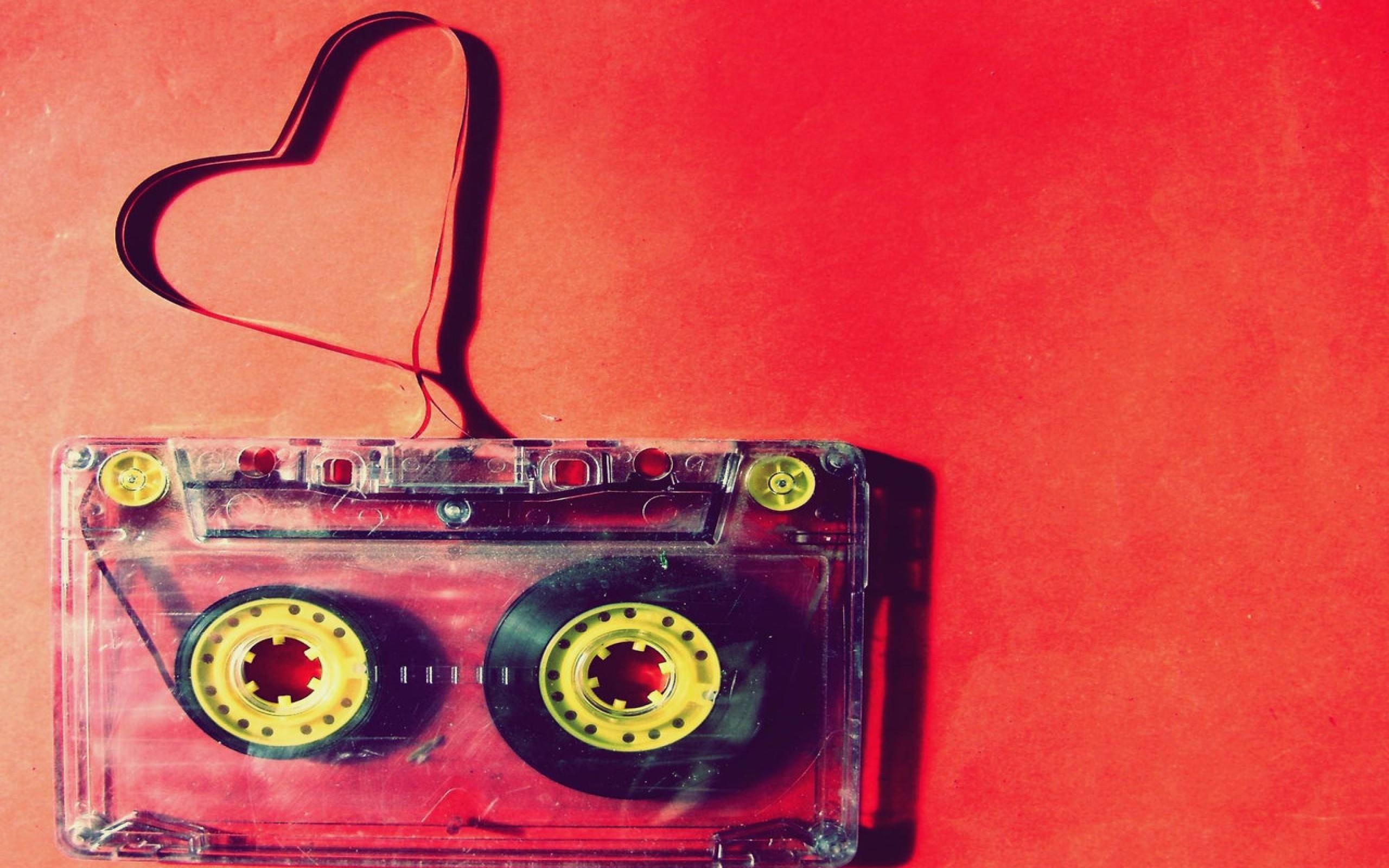 Res: 2560x1600, Cassette Music Red Wallpaper Wallpaper