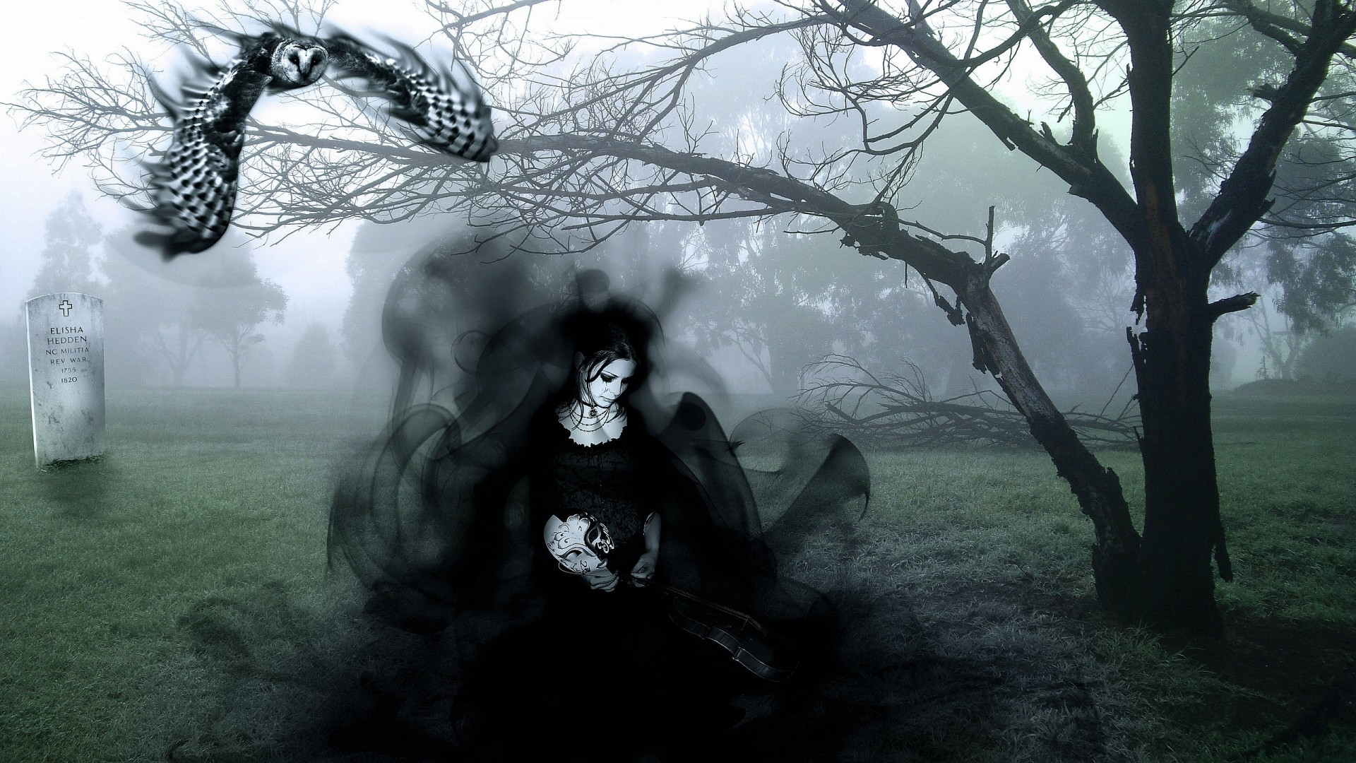 Res: 1920x1080, Download now full hd wallpaper ghost lady gothic dark fog cemetery ...