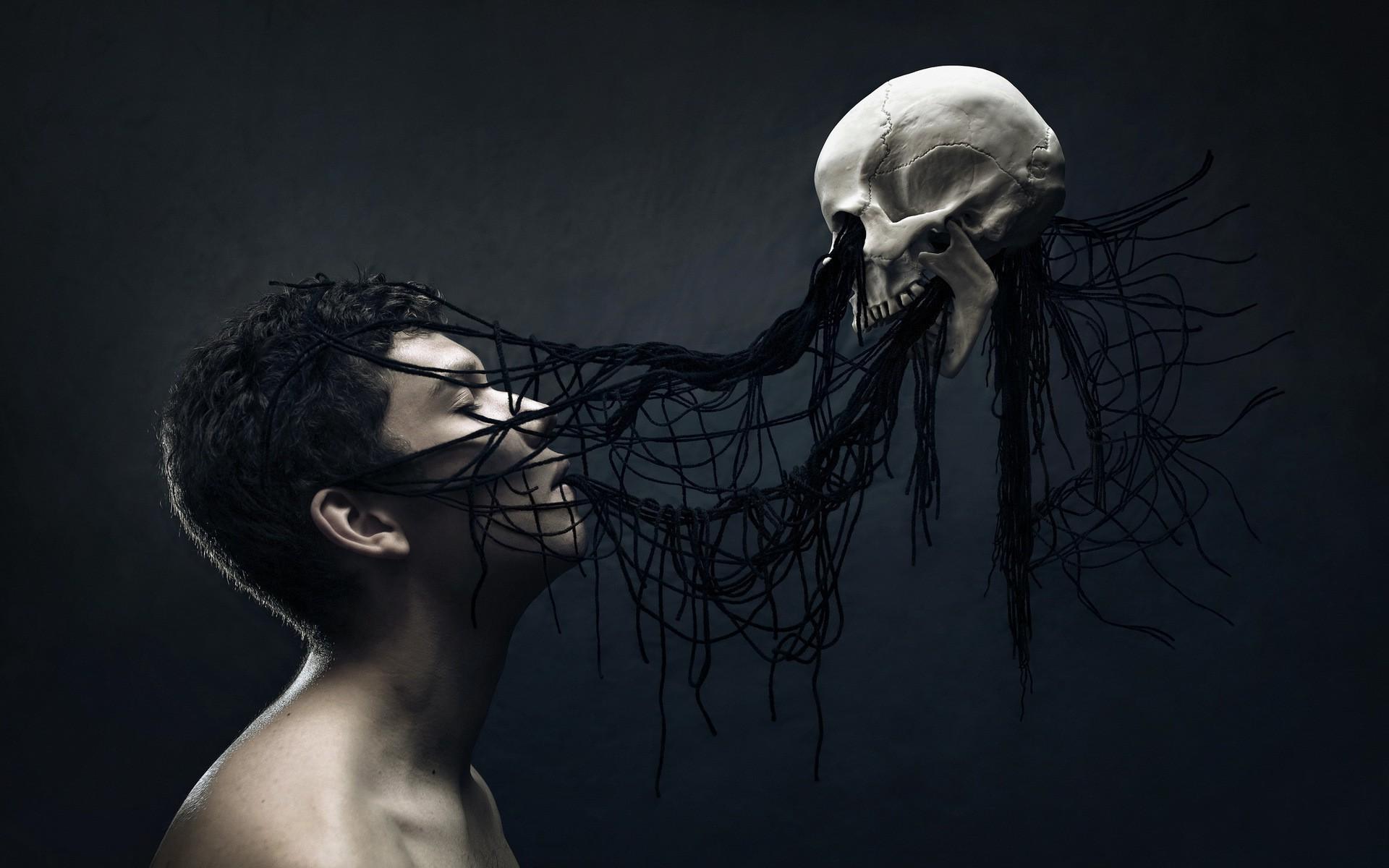 Res: 1920x1200, men, Digital Art, Fantasy Art, Skull, Death, Spooky, Gothic Wallpapers HD /  Desktop and Mobile Backgrounds