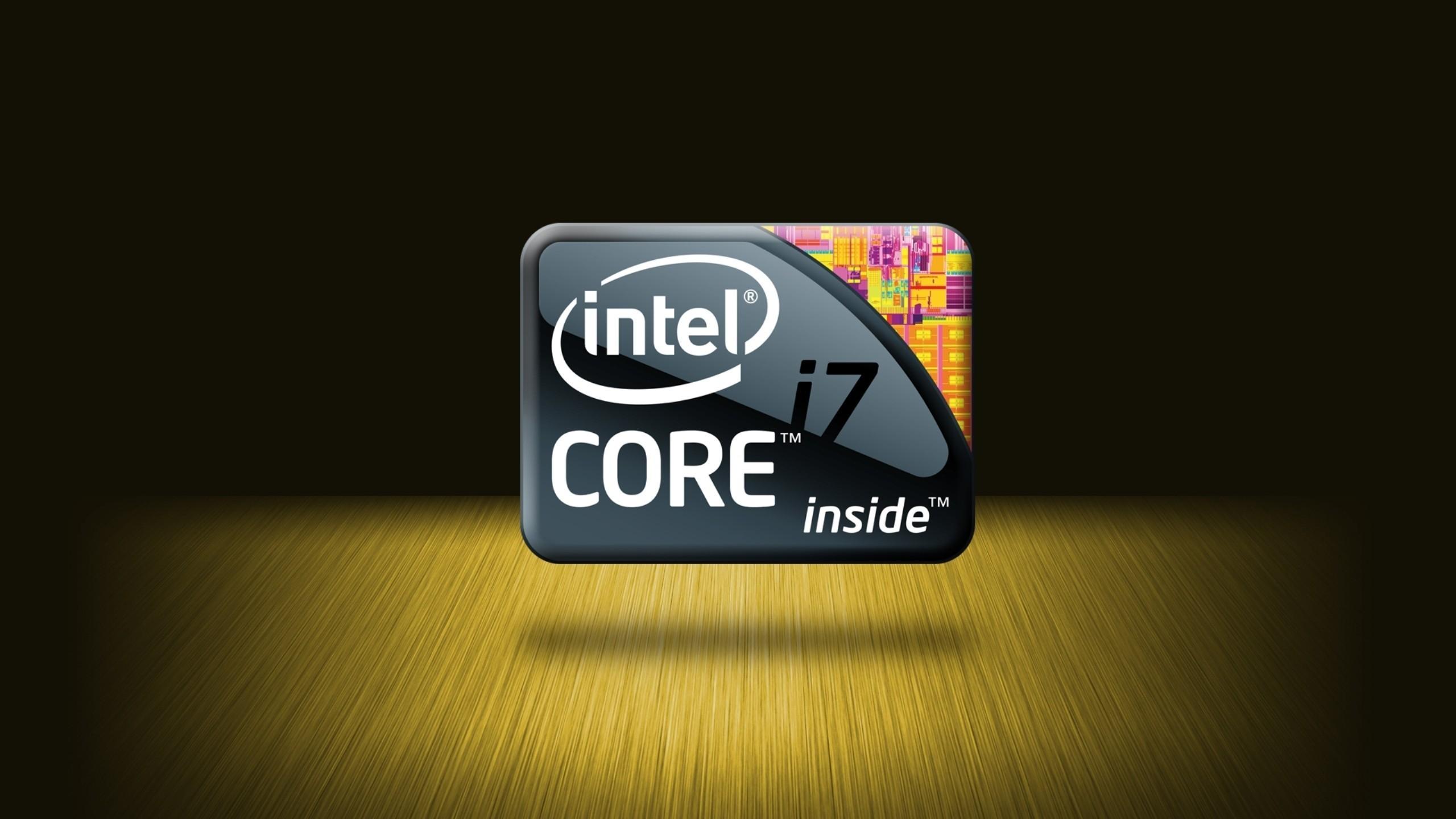 Res: 2560x1440, Intel Logos cpu wallpaper