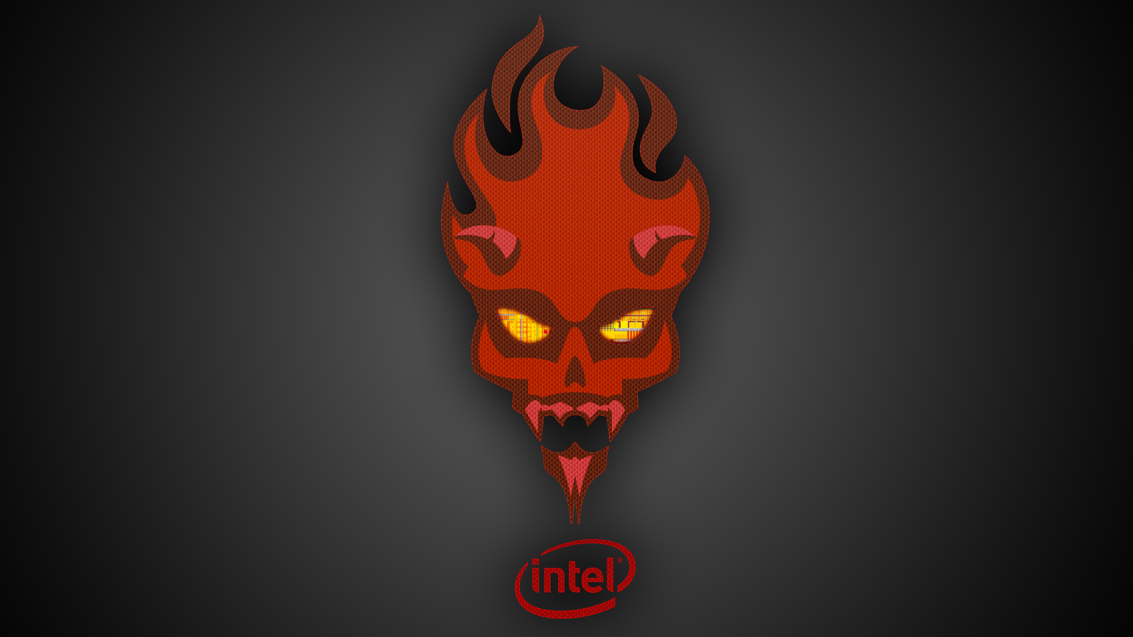 Res: 3840x2160, Intel Red - Wallpaper #121