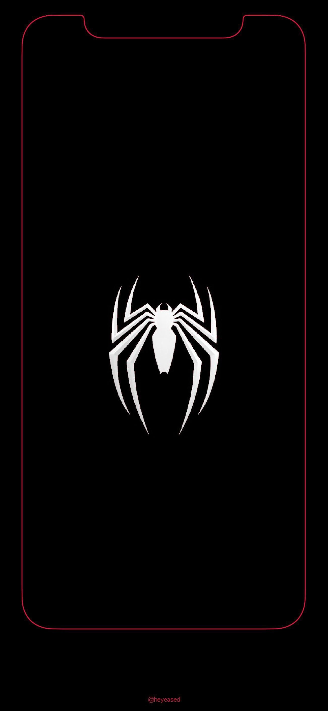 Res: 1301x2820, Fan-ArtiPhone X Spiderman Logo Wallpaper ...