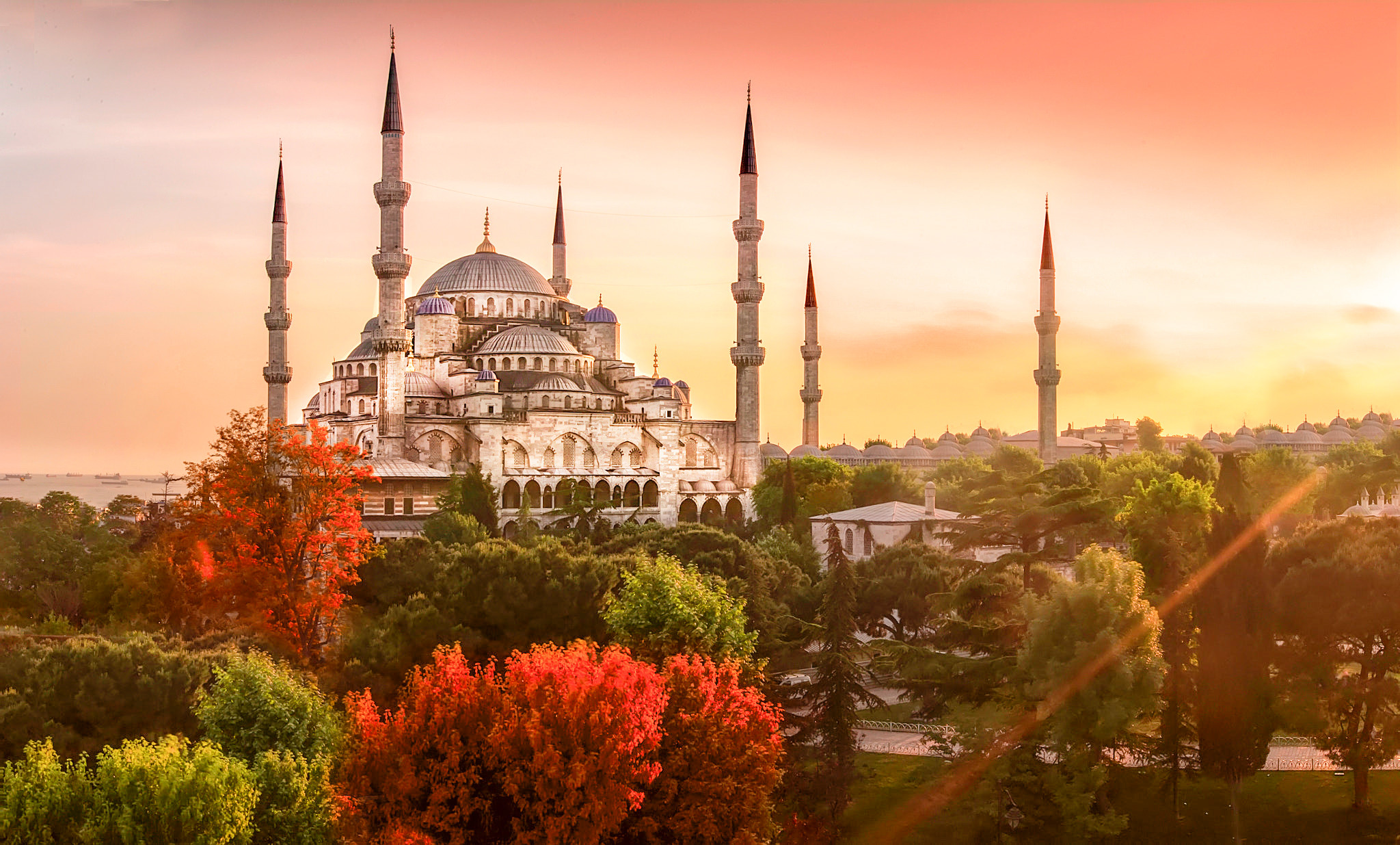 Res: 2048x1235, Blue Mosque Istanbul, Turkey 4K Wallpapers2 ...