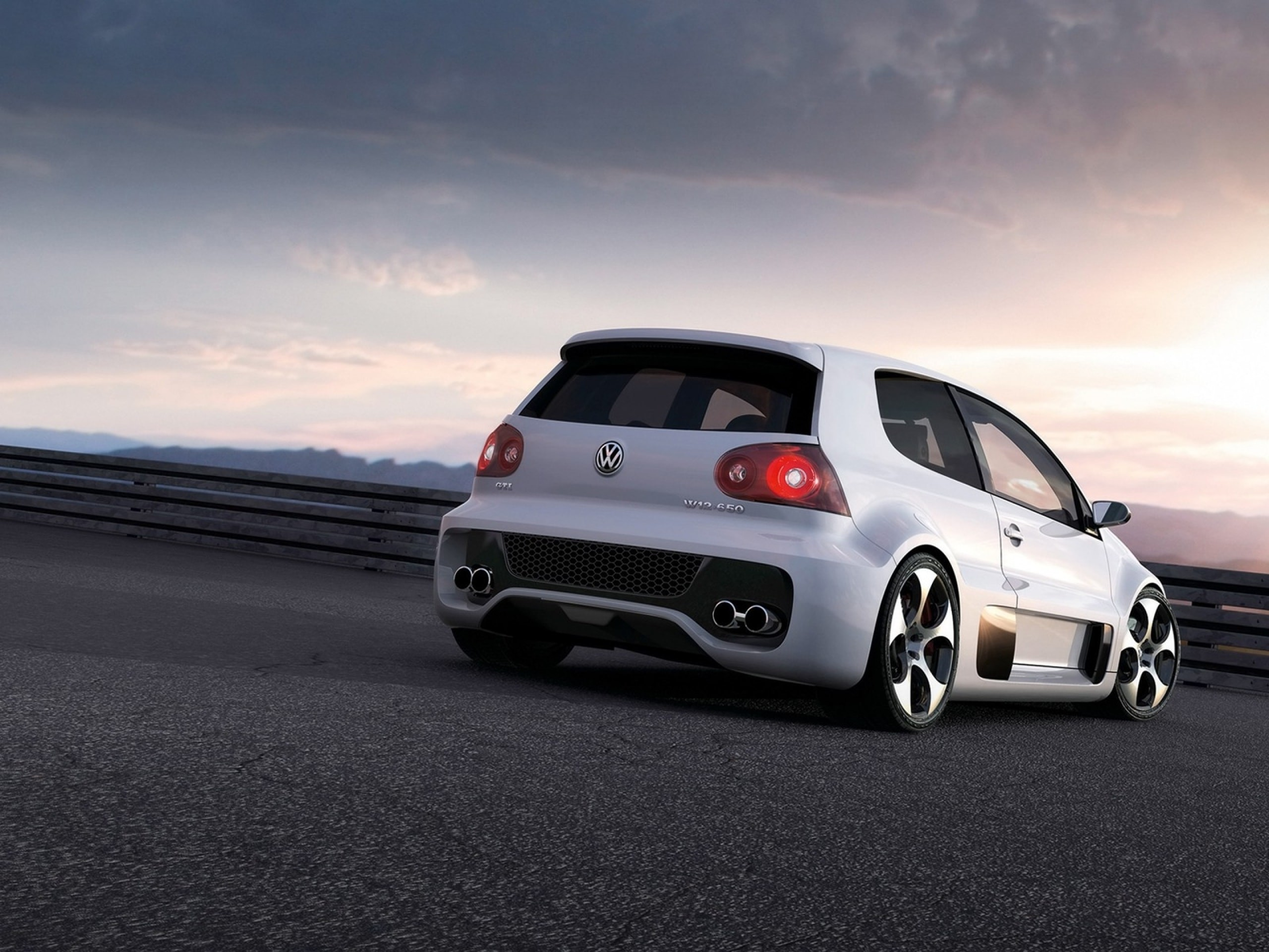 Res: 2560x1920, Volkswagen Golf GTI W12-650 Concept widescreen wallpapers