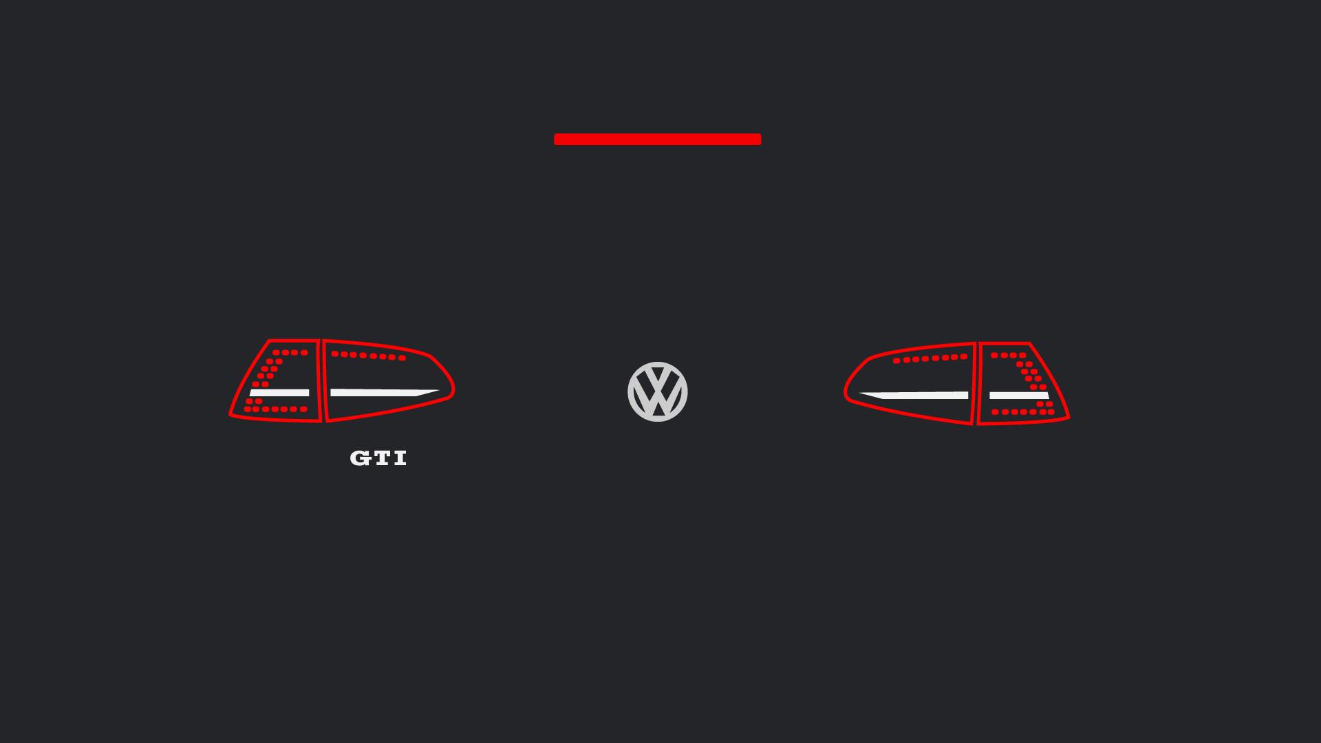 Res: 1920x1080, Mk7 GTI Euro Taillights Minimalist Wallpapers (1920 x 1080)