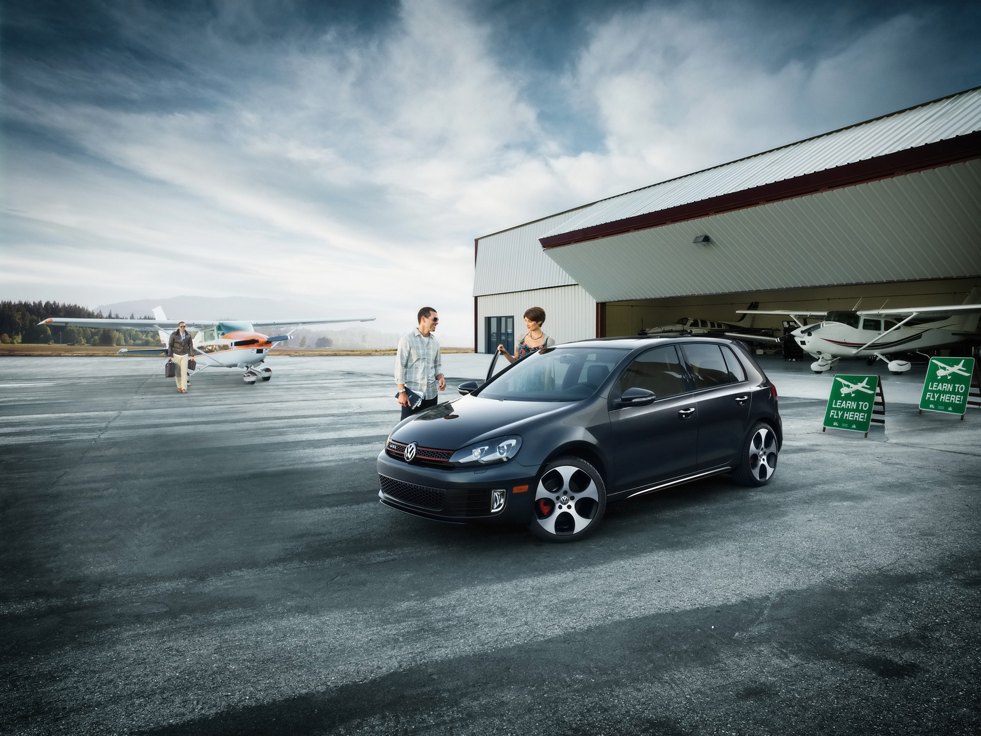Res: 1920x1440, Image: Volkswagen GTI Front and Side wallpapers and stock photos. Â«