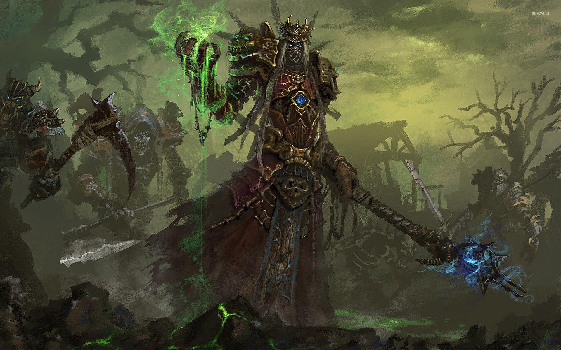 Res: 1920x1200, Undead warlock - World of Warcraft wallpaper