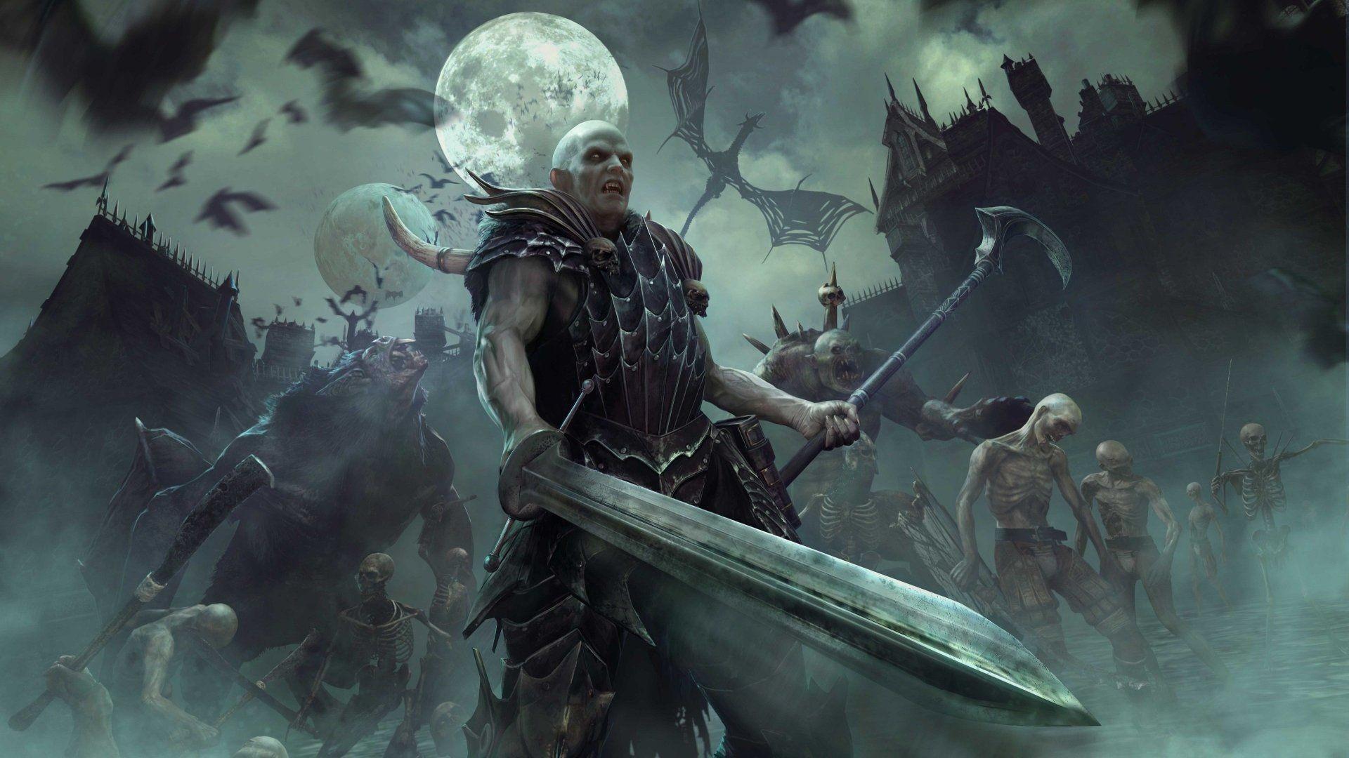 Res: 1920x1080, Video Game Total War: Warhammer Total War Undead Wallpaper