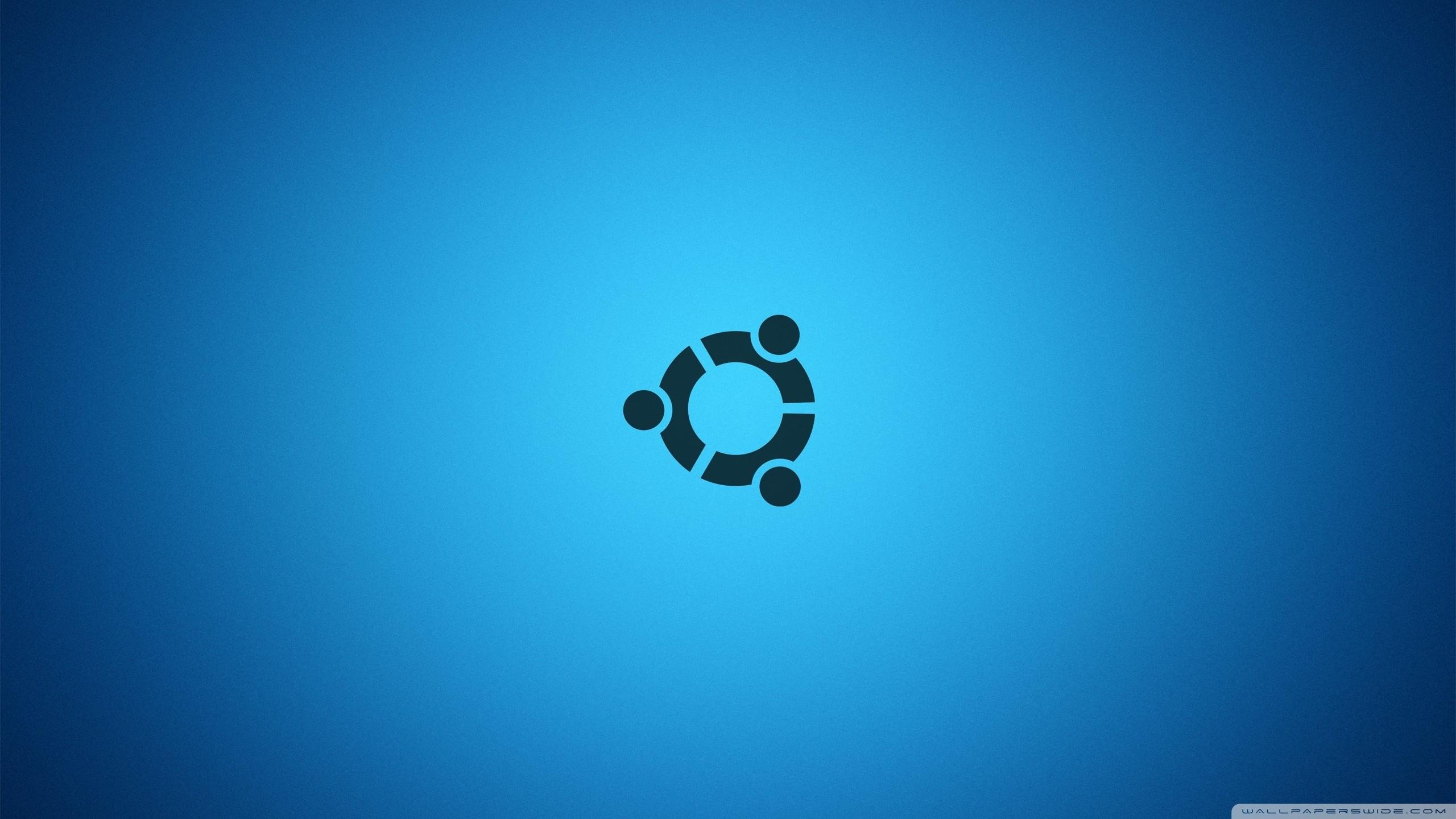 Res: 2560x1440, Ubuntu Desktop Blue HD Wide Wallpaper for 4K UHD Widescreen desktop &  smartphone