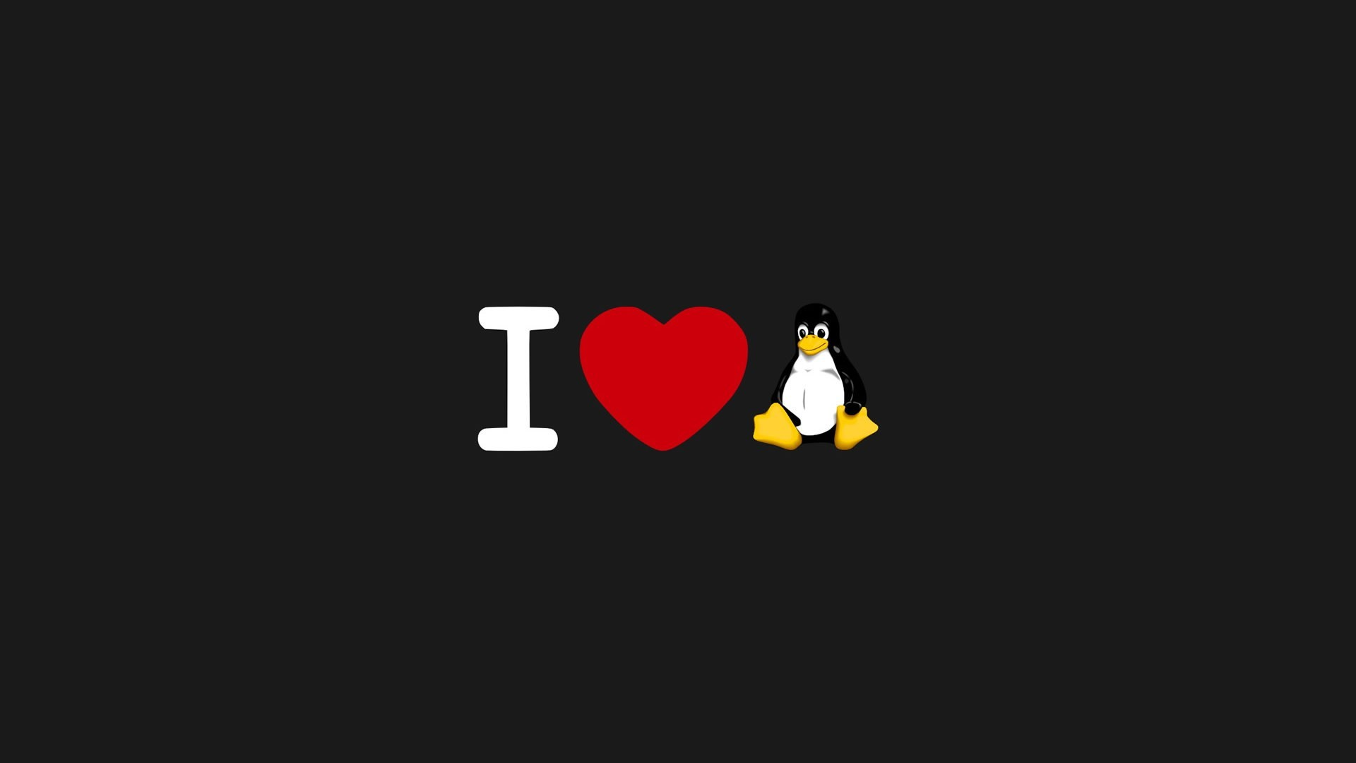 Res: 1920x1080, I Love Linux
