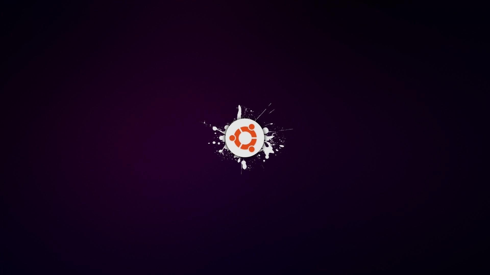Res: 1920x1080, Full HD Wallpaper ubuntu linux logo spray
