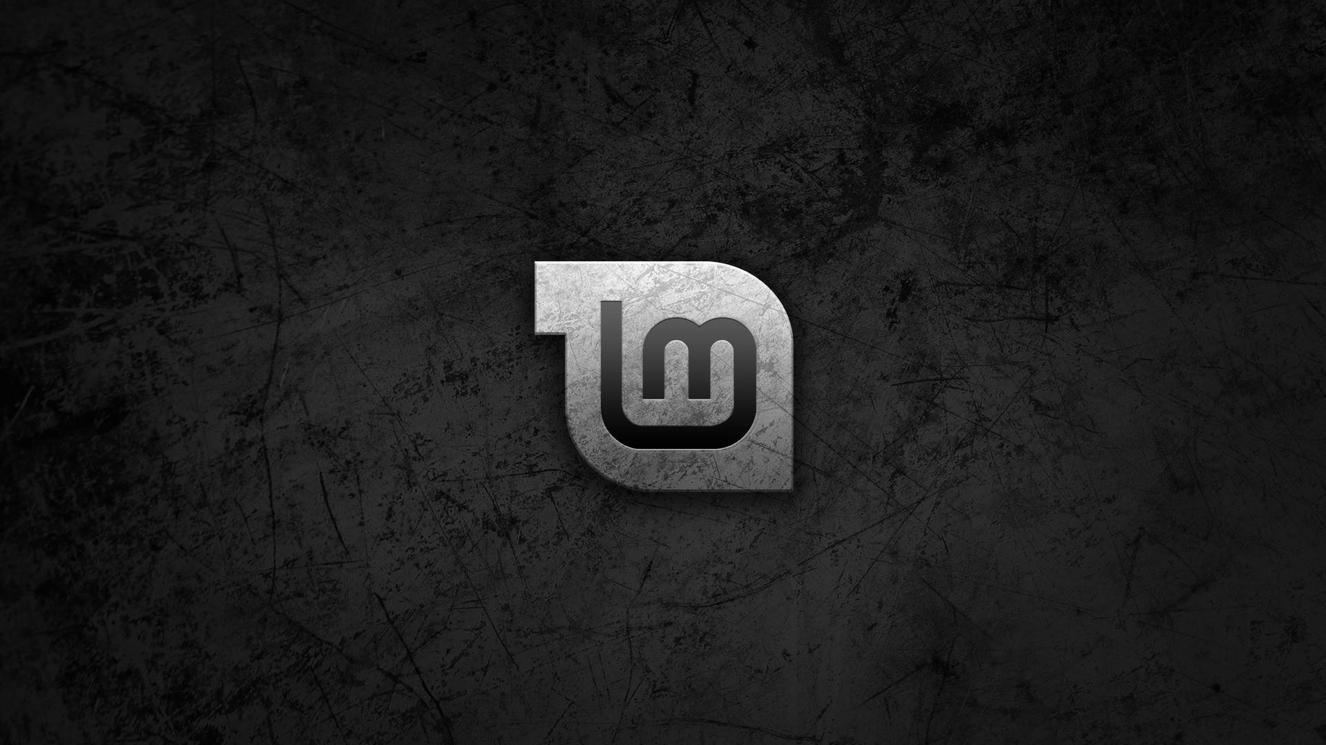 Res: 1920x1080,  Wallpaper linux, linux mint, black, gnu