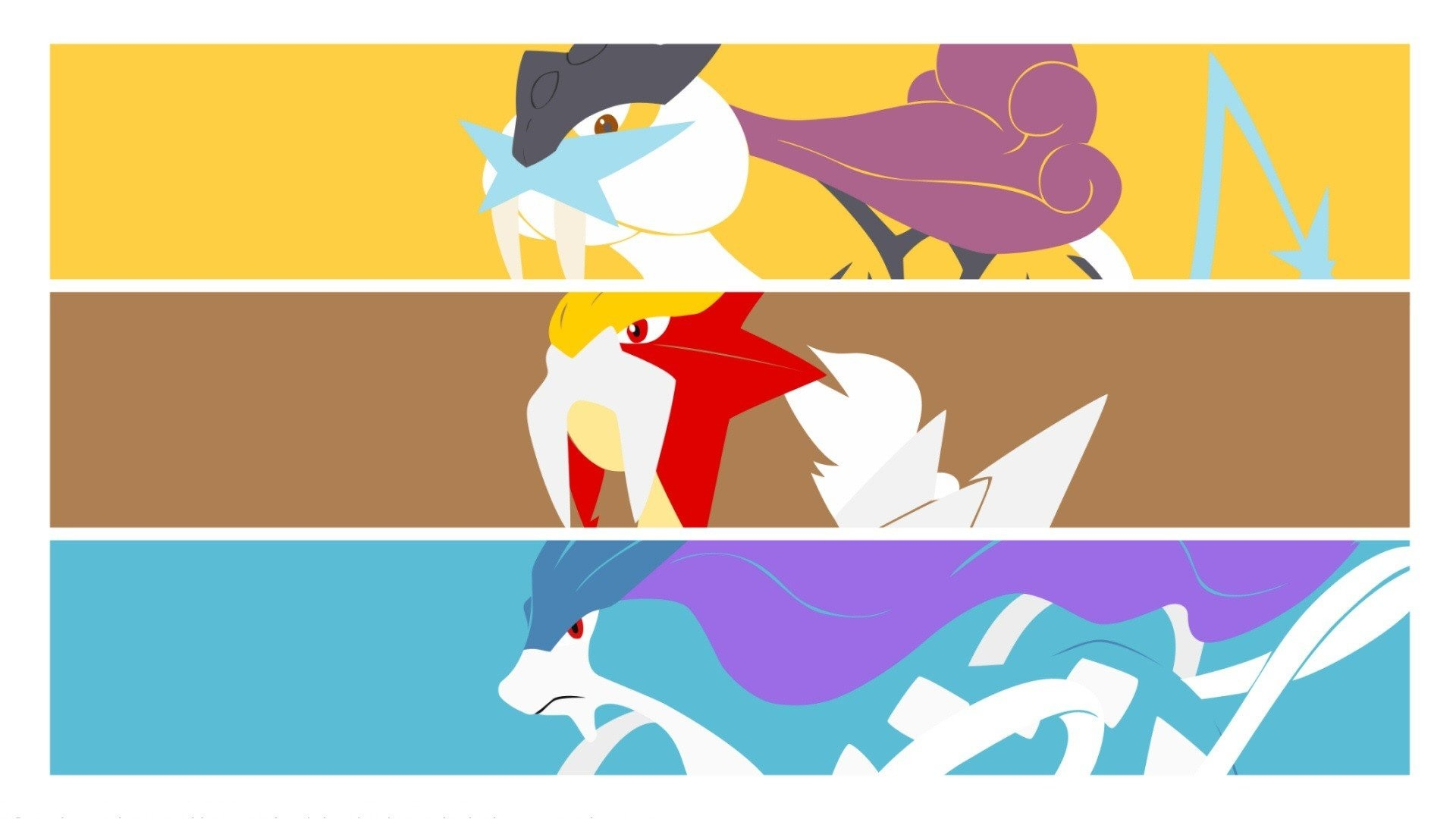 Res: 1920x1080, Raikou, Entei, Suicune, Pokémon HD Wallpapers / Desktop and Mobile Images &  Photos