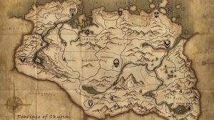Skyrim Map wallpapers