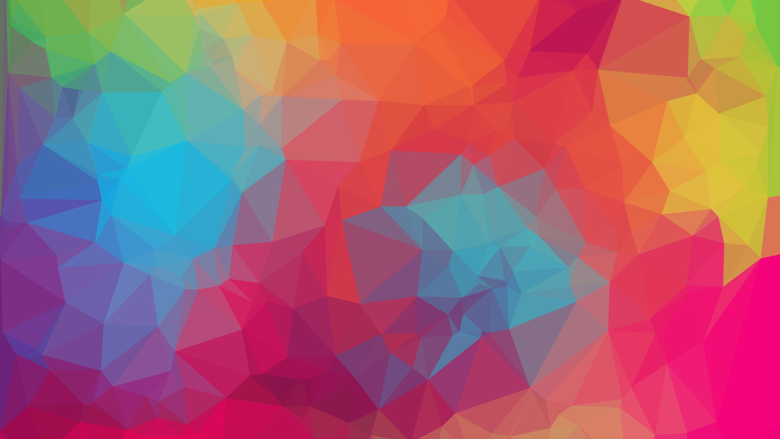 Res: 2600x1463, Geometry Colorful Polygon Bright Wallpaper