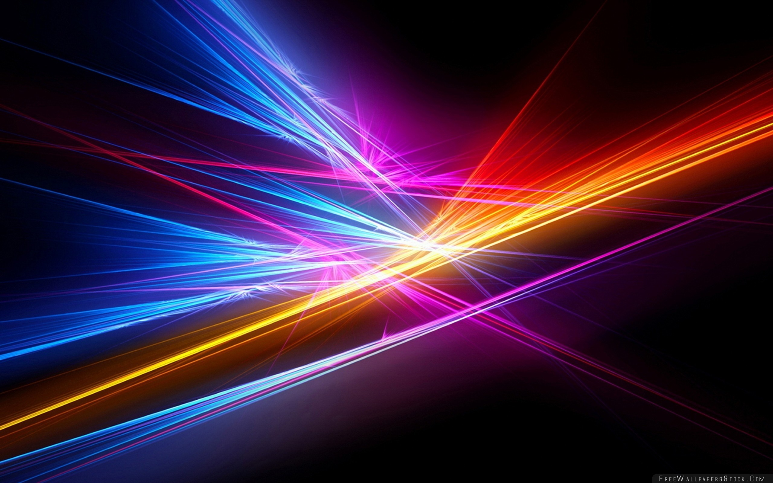 Res: 2560x1600, Rays Colorful Lines Background Bright Wallpaper