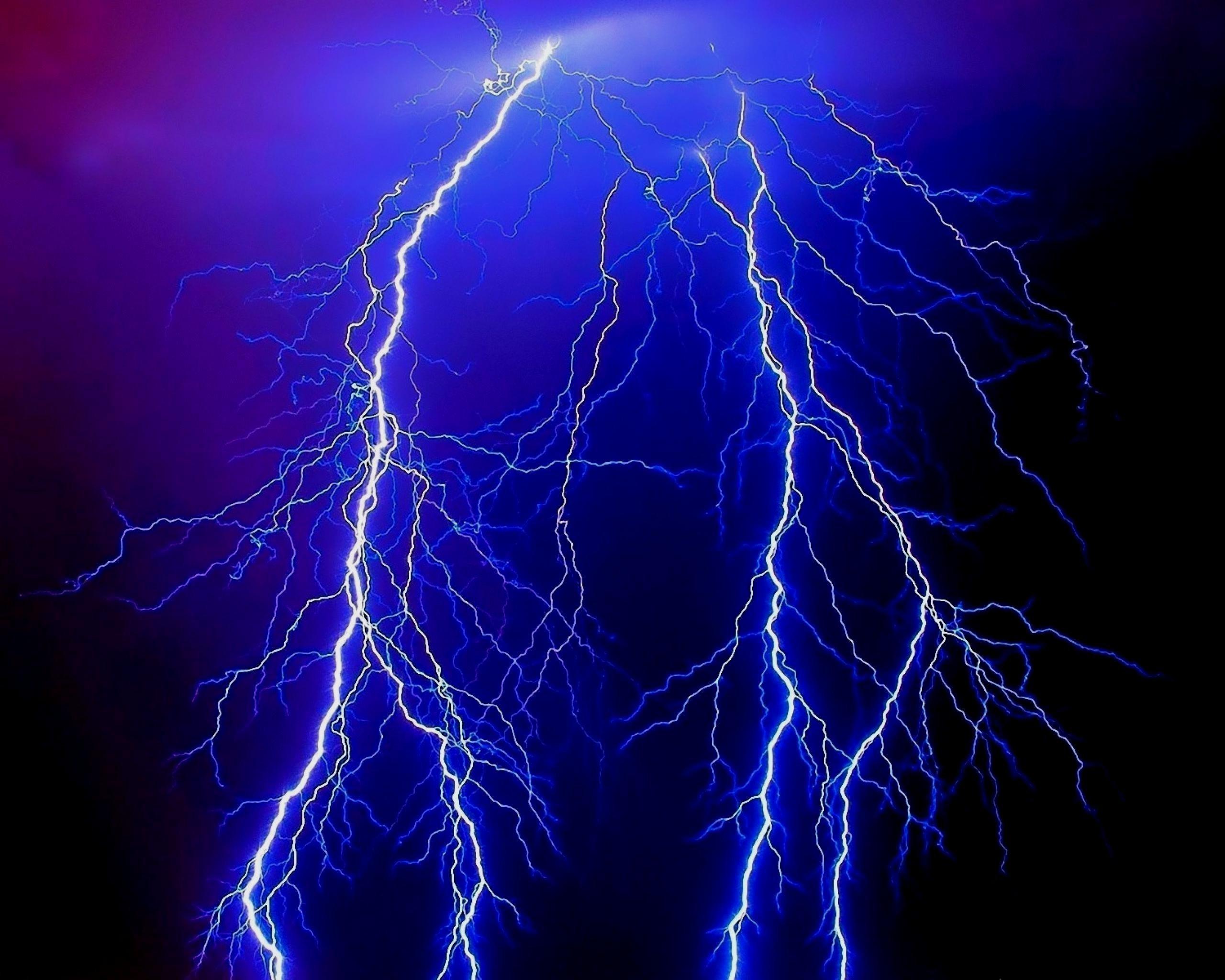 Res: 2560x2048,  Blue Lightning Wallpaper HD 08262