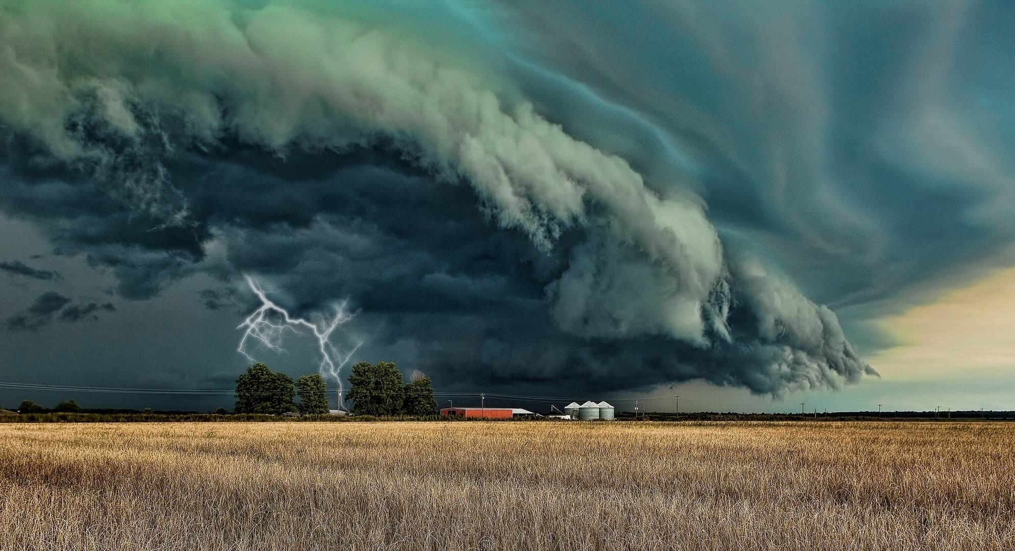 Res: 1989x1080, Landscape, lighting, storm cloud, July wallpapers and images .